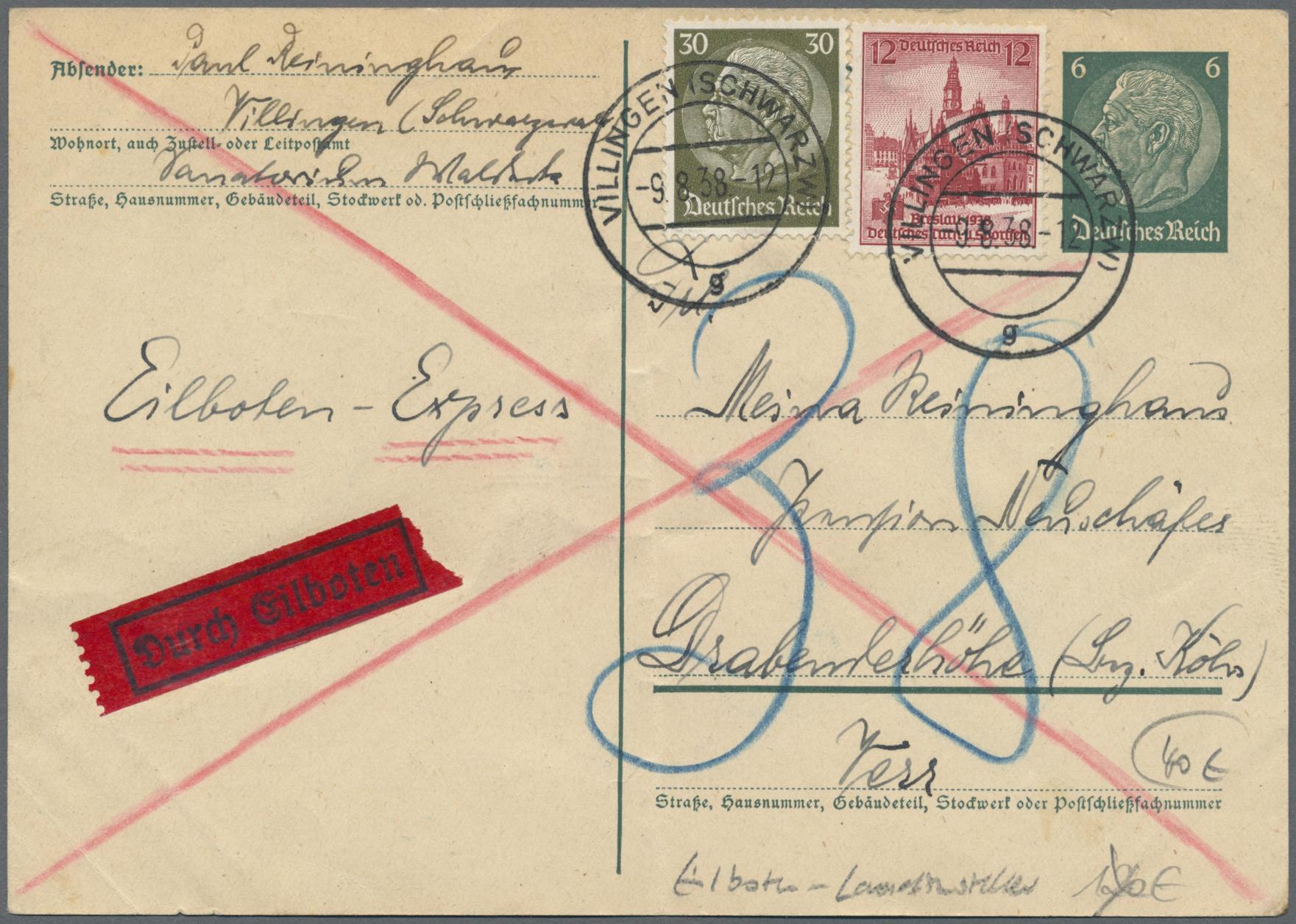 Lot 37176 - Deutsches Reich - Besonderheiten  -  Auktionshaus Christoph Gärtner GmbH & Co. KG Collections Germany,  Collections Supplement, Surprise boxes #39 Day 7