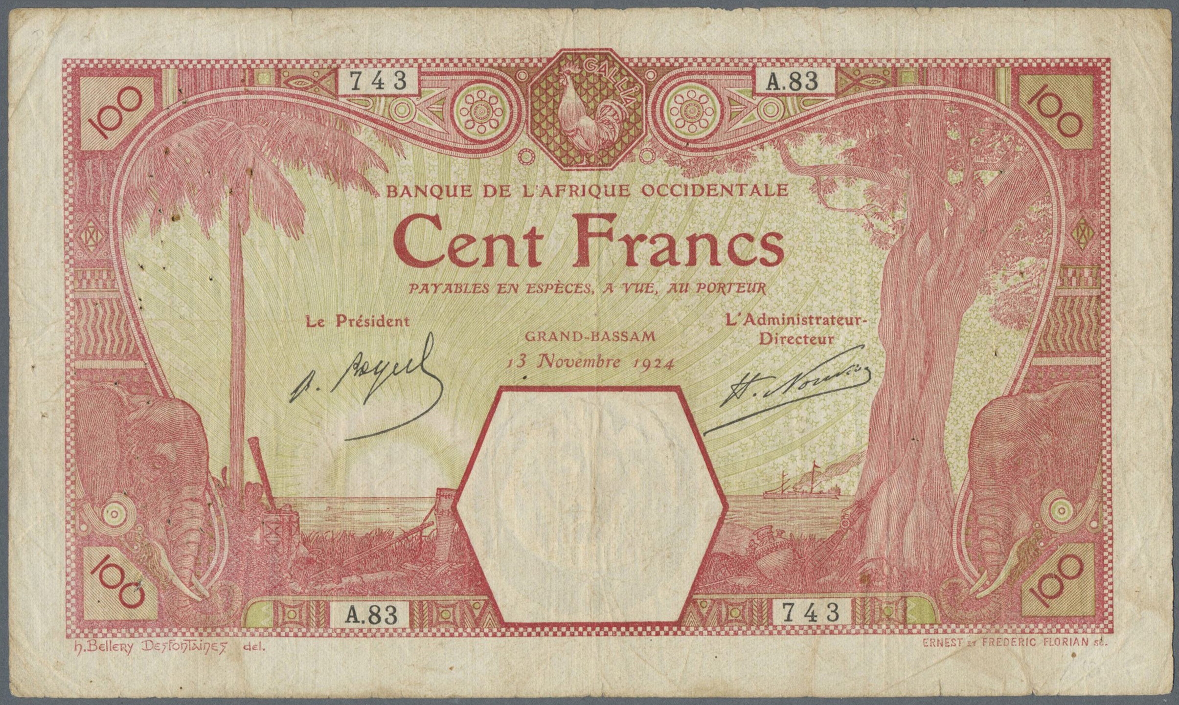Lot 00352 - French West Africa / Französisch Westafrika | Banknoten  -  Auktionshaus Christoph Gärtner GmbH & Co. KG Sale #48 The Banknotes