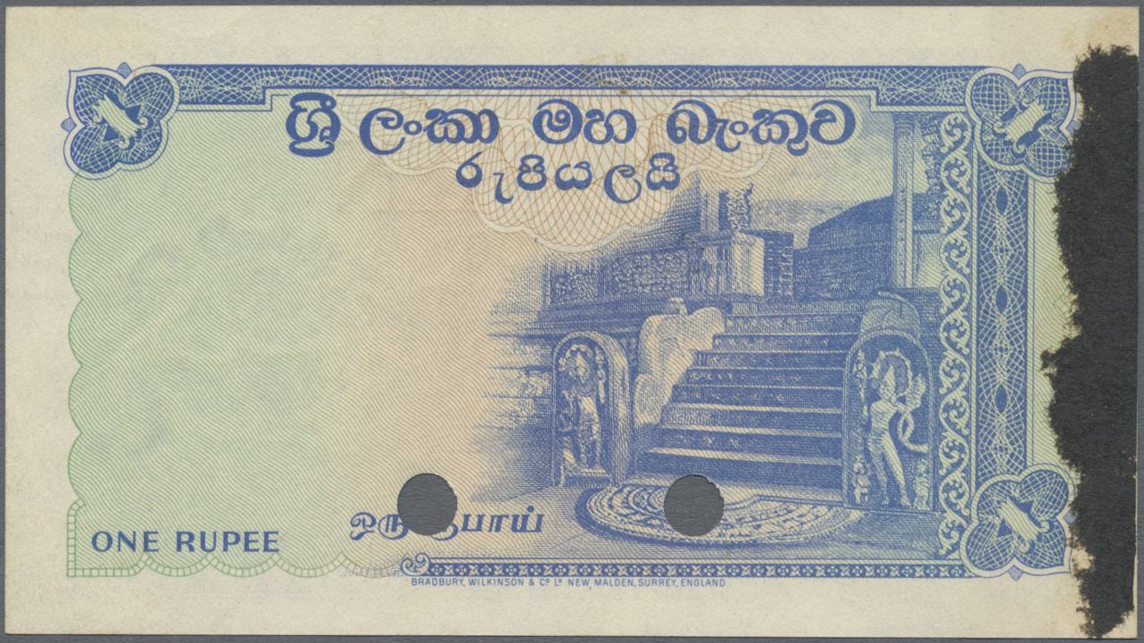 Lot 00117 - Ceylon | Banknoten  -  Auktionshaus Christoph Gärtner GmbH & Co. KG Sale #48 The Banknotes