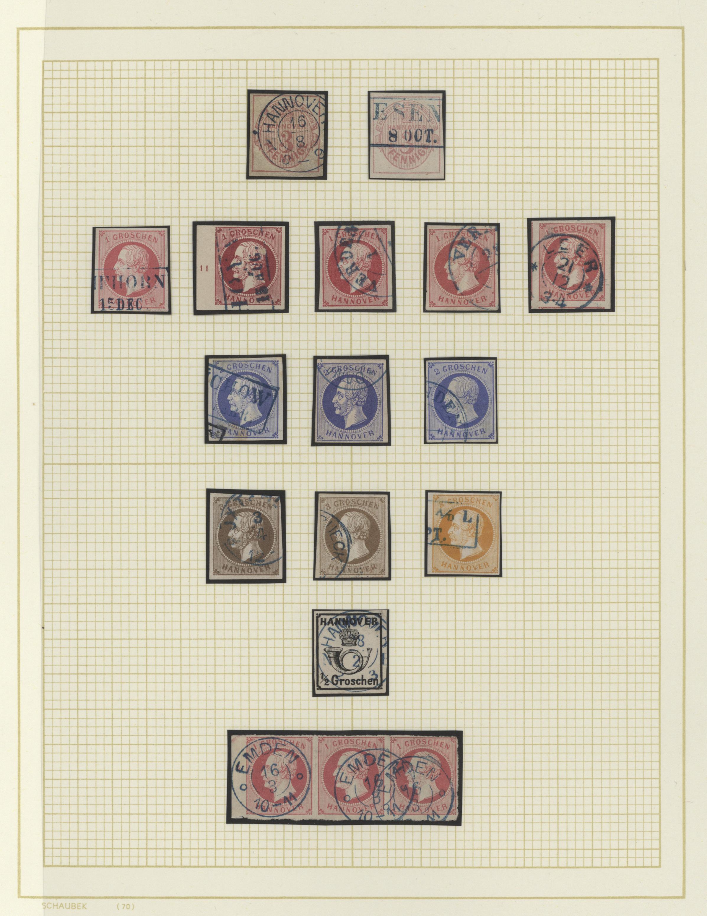 Lot 36247 - Hannover - Marken und Briefe  -  Auktionshaus Christoph Gärtner GmbH & Co. KG Sale #44 Collections Germany
