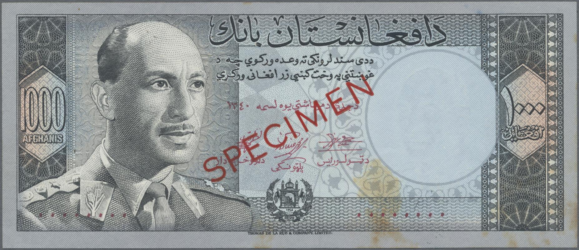 Lot 00008 - Afghanistan | Banknoten  -  Auktionshaus Christoph Gärtner GmbH & Co. KG Sale #48 The Banknotes