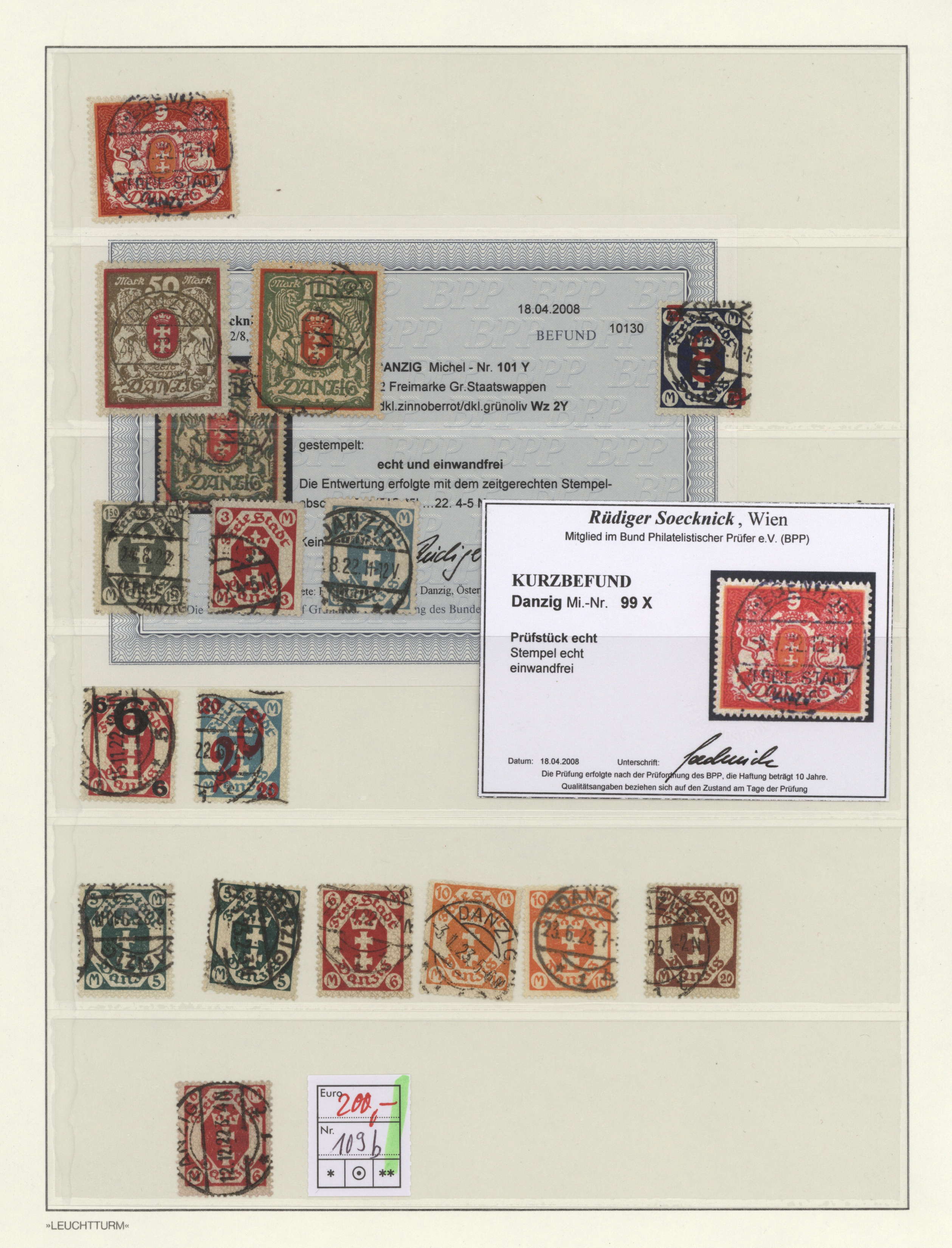 Lot 37060 - danzig  -  Auktionshaus Christoph Gärtner GmbH & Co. KG Sale #44 Collections Germany