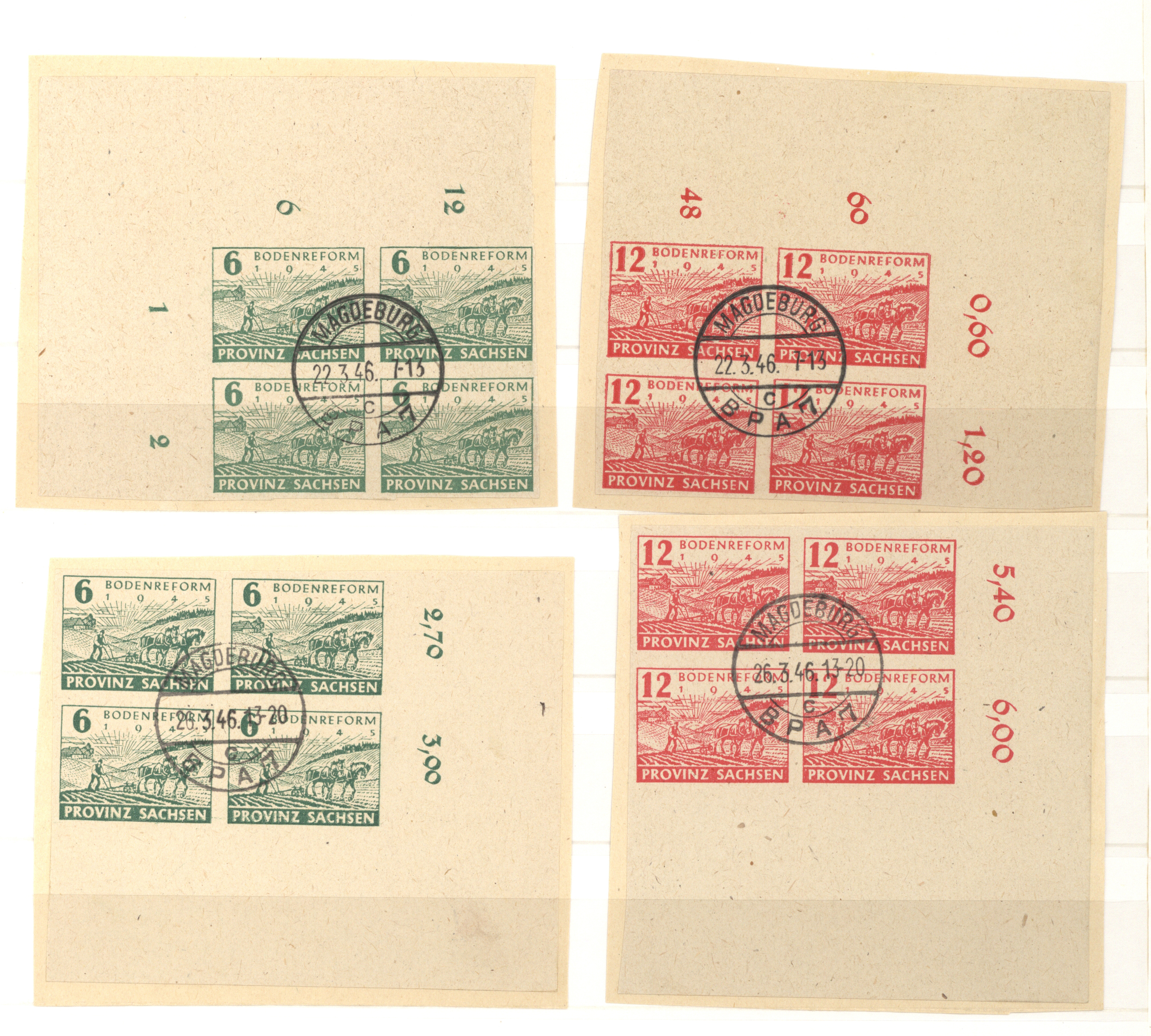Lot 37326 - Sowjetische Zone - Provinz Sachsen  -  Auktionshaus Christoph Gärtner GmbH & Co. KG Sale #44 Collections Germany