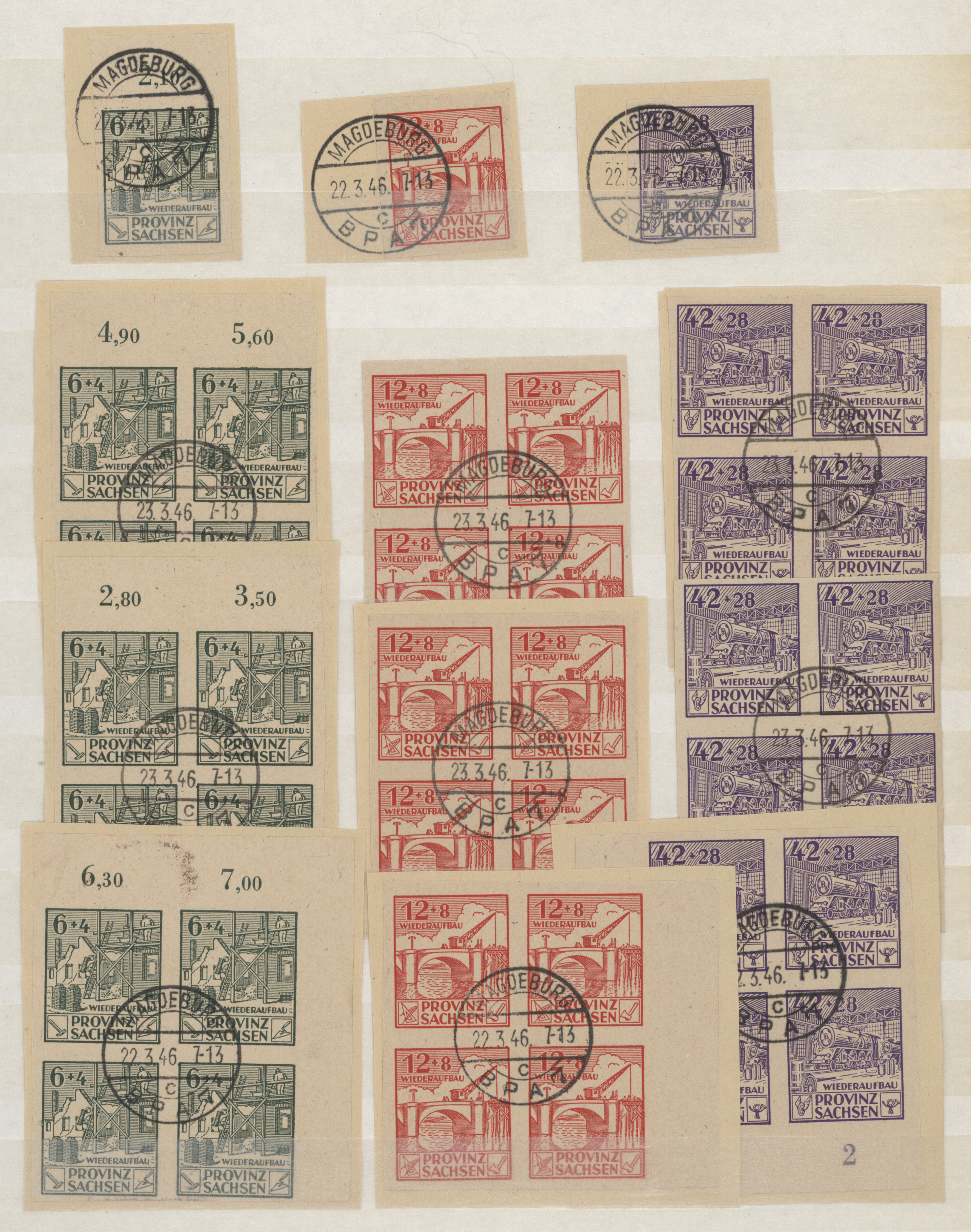 Lot 37328 - Sowjetische Zone - Provinz Sachsen  -  Auktionshaus Christoph Gärtner GmbH & Co. KG Sale #44 Collections Germany