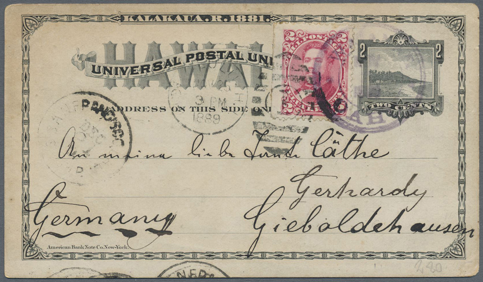 Lot 13845 - Hawaii - Ganzsachen  -  Auktionshaus Christoph Gärtner GmbH & Co. KG Single lots Philately Overseas & Europe. Auction #39 Day 4