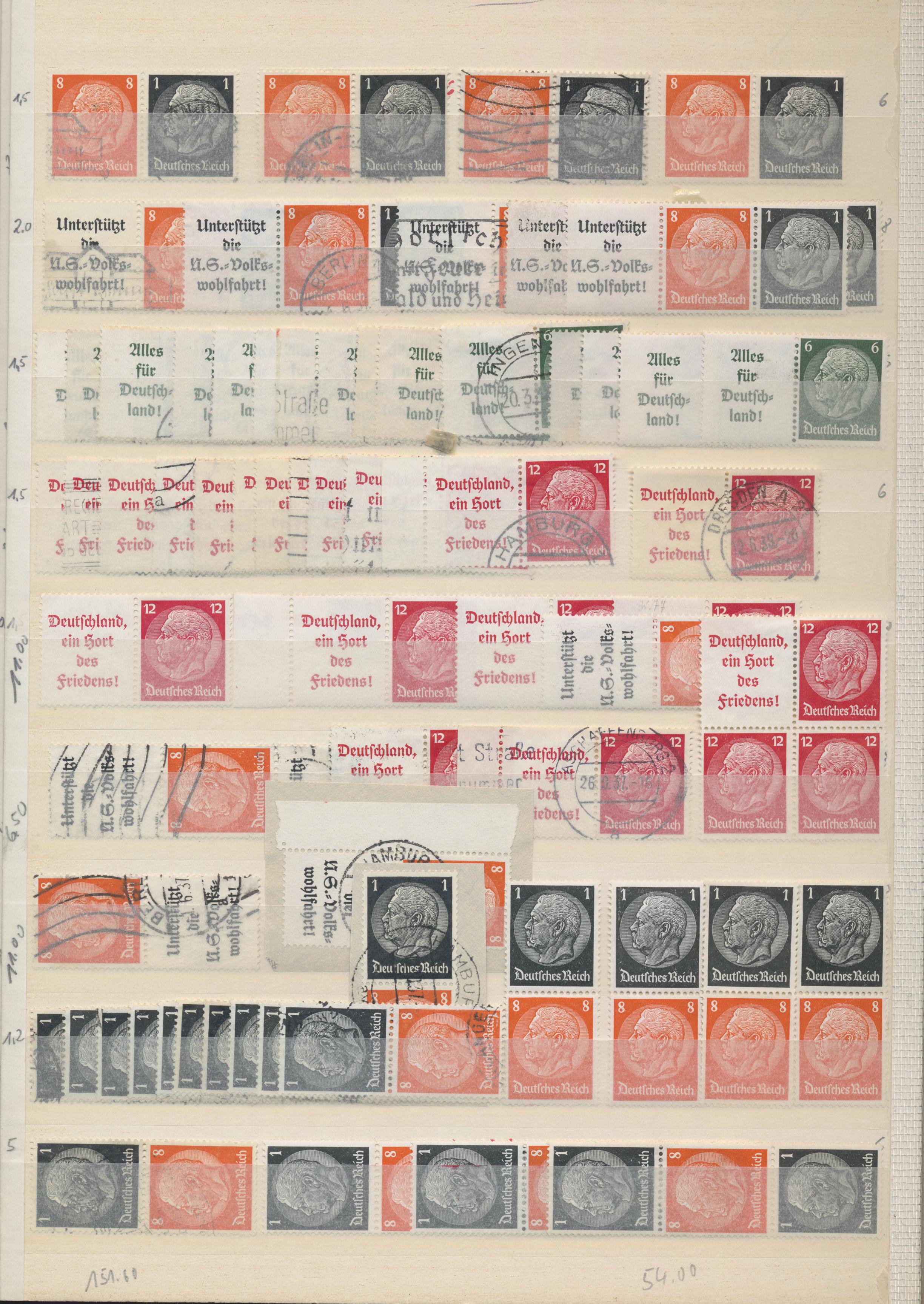 Lot 36777 - Deutsches Reich - Zusammendrucke  -  Auktionshaus Christoph Gärtner GmbH & Co. KG Sale #44 Collections Germany