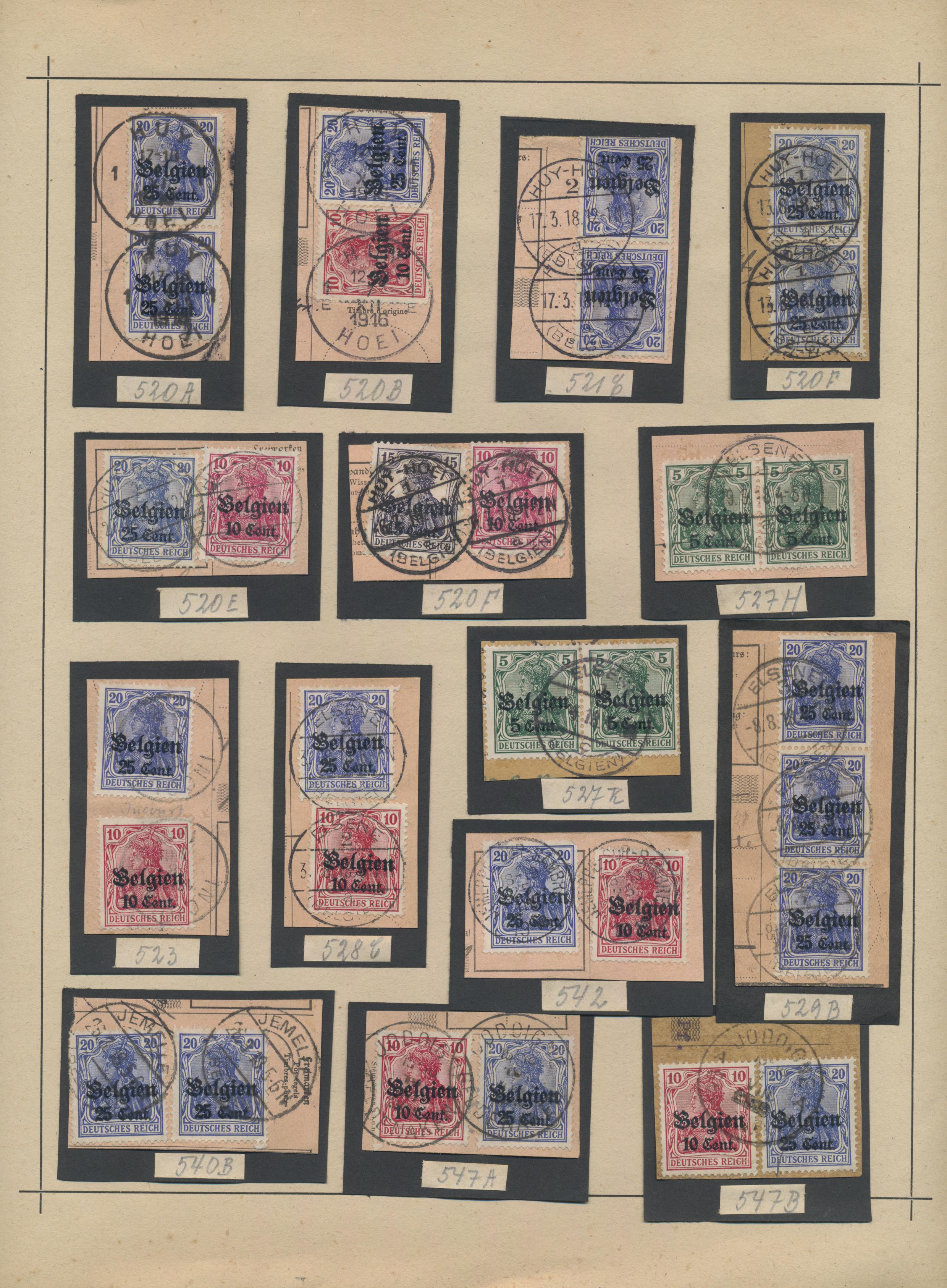 Lot 36974 - Deutsche Besetzung I. WK: Landespost in Belgien  -  Auktionshaus Christoph Gärtner GmbH & Co. KG Sale #44 Collections Germany