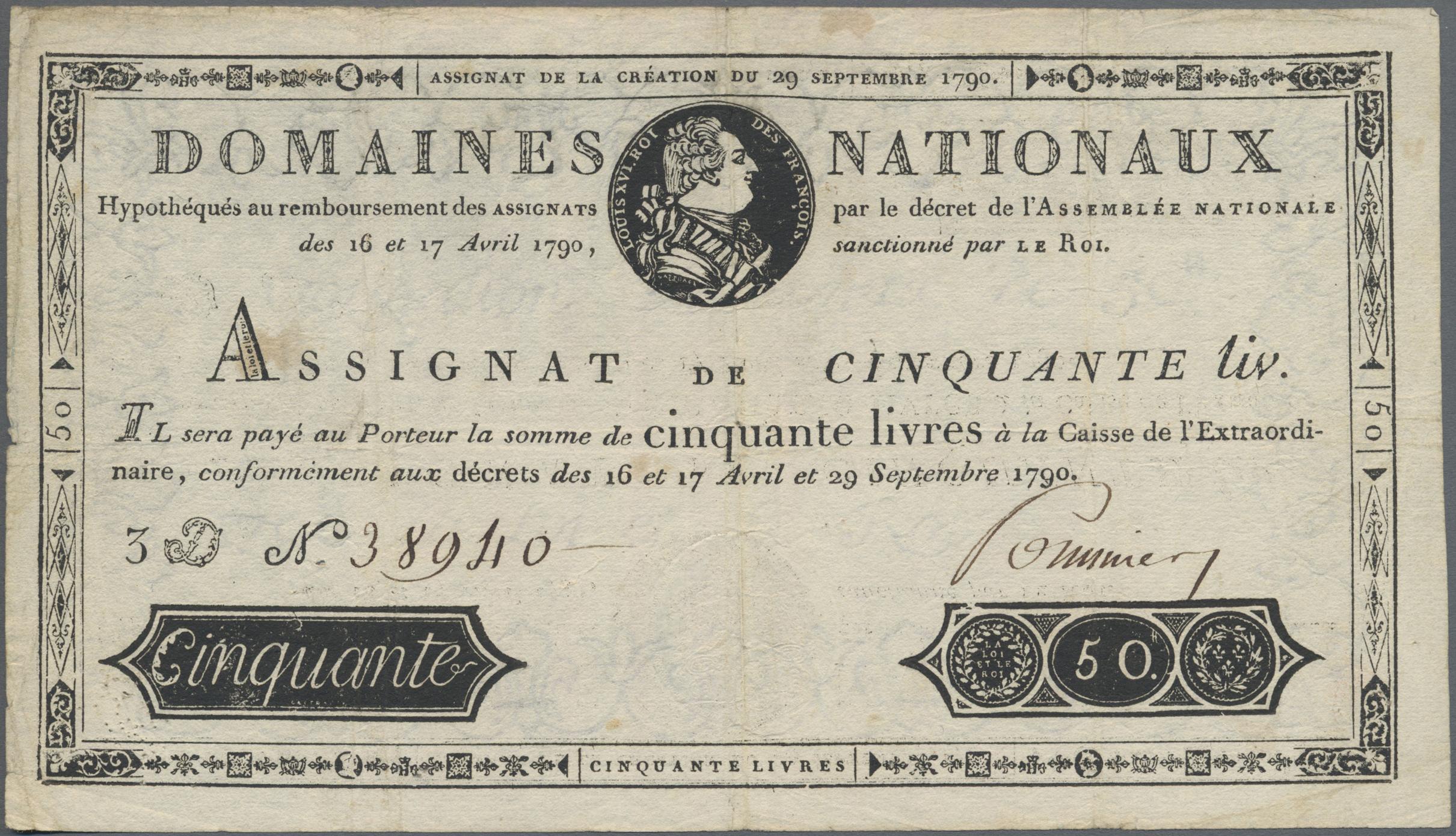 Lot 00259 - France / Frankreich | Banknoten  -  Auktionshaus Christoph Gärtner GmbH & Co. KG Sale #48 The Banknotes