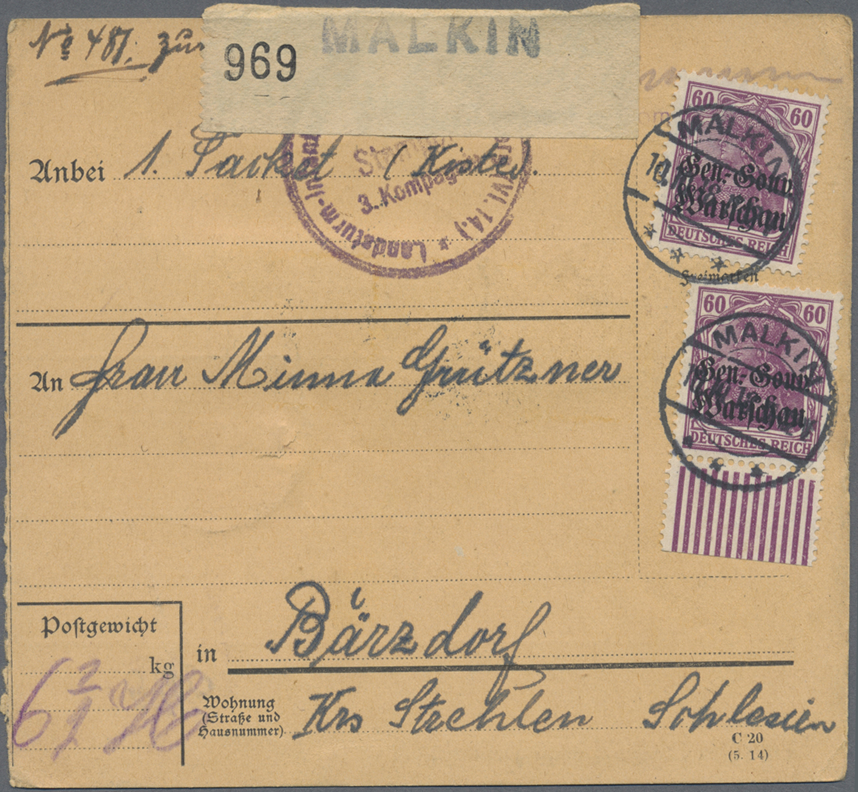 Lot 36989 - Deutsche Besetzung I. WK: Deutsche Post in Polen  -  Auktionshaus Christoph Gärtner GmbH & Co. KG Sale #44 Collections Germany