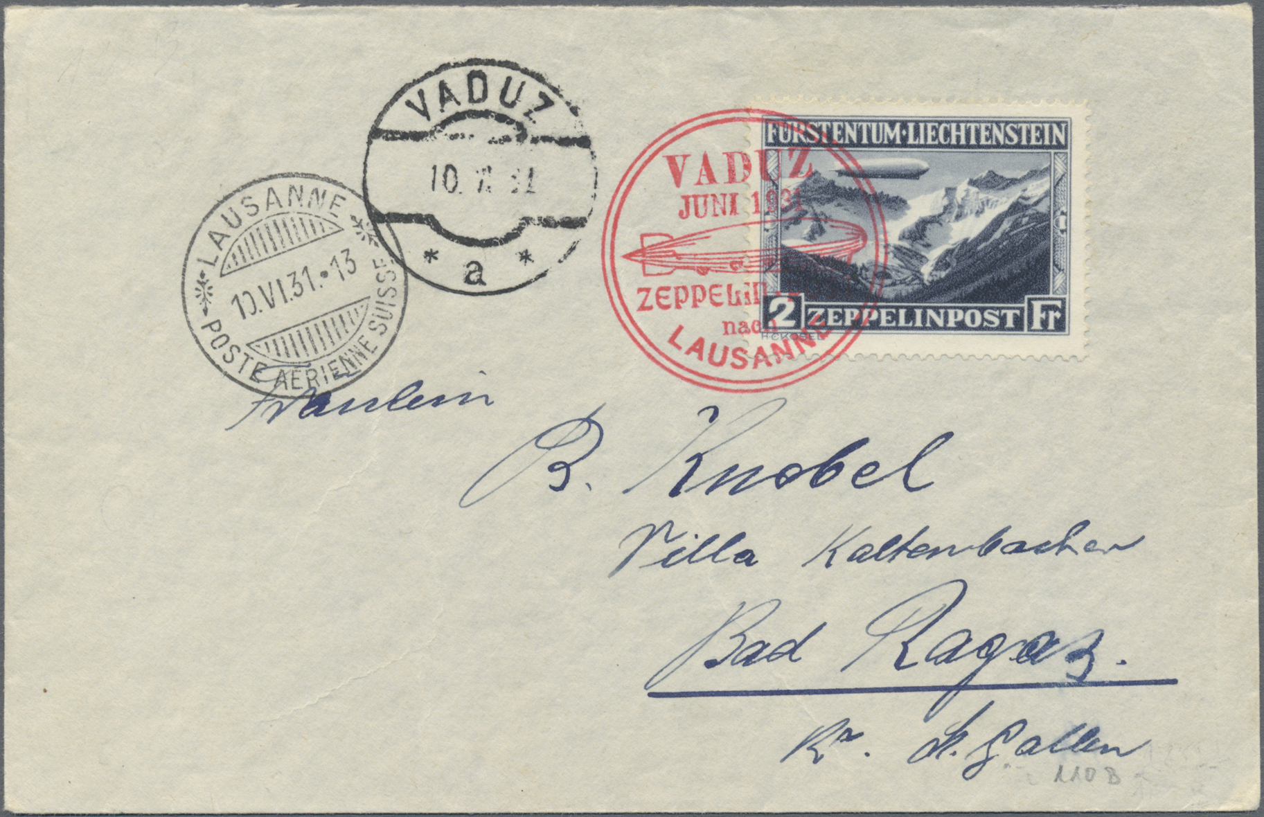 Lot 10735 - zeppelinpost europa  -  Auktionshaus Christoph Gärtner GmbH & Co. KG Sale #46 Single lots Asia, Thematics, Overseas, Europe …