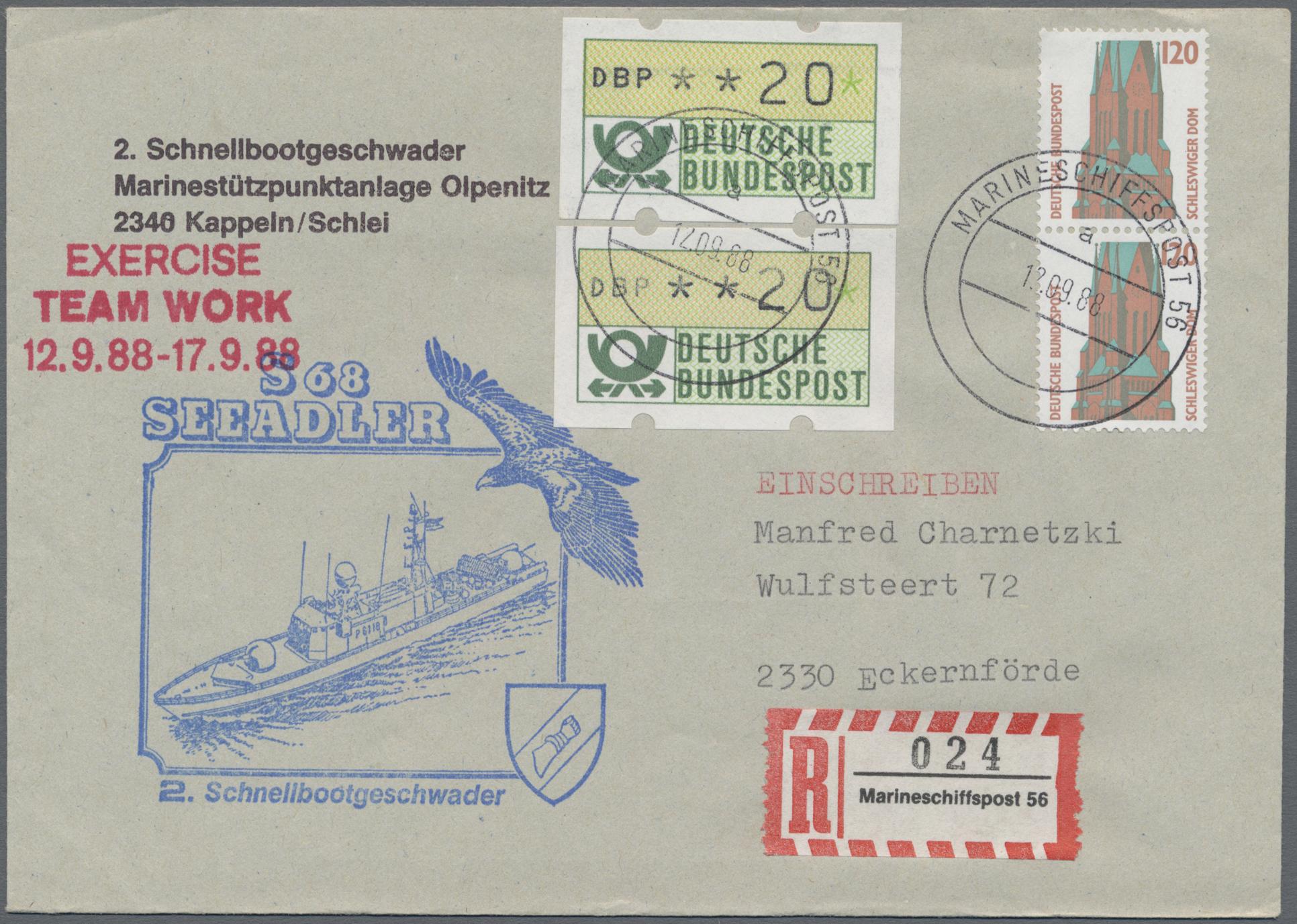 Lot 20554 - Deutsche Schiffspost - Marine  -  Auktionshaus Christoph Gärtner GmbH & Co. KG Sale #47 Collections: Overseas, Thematics, Europe