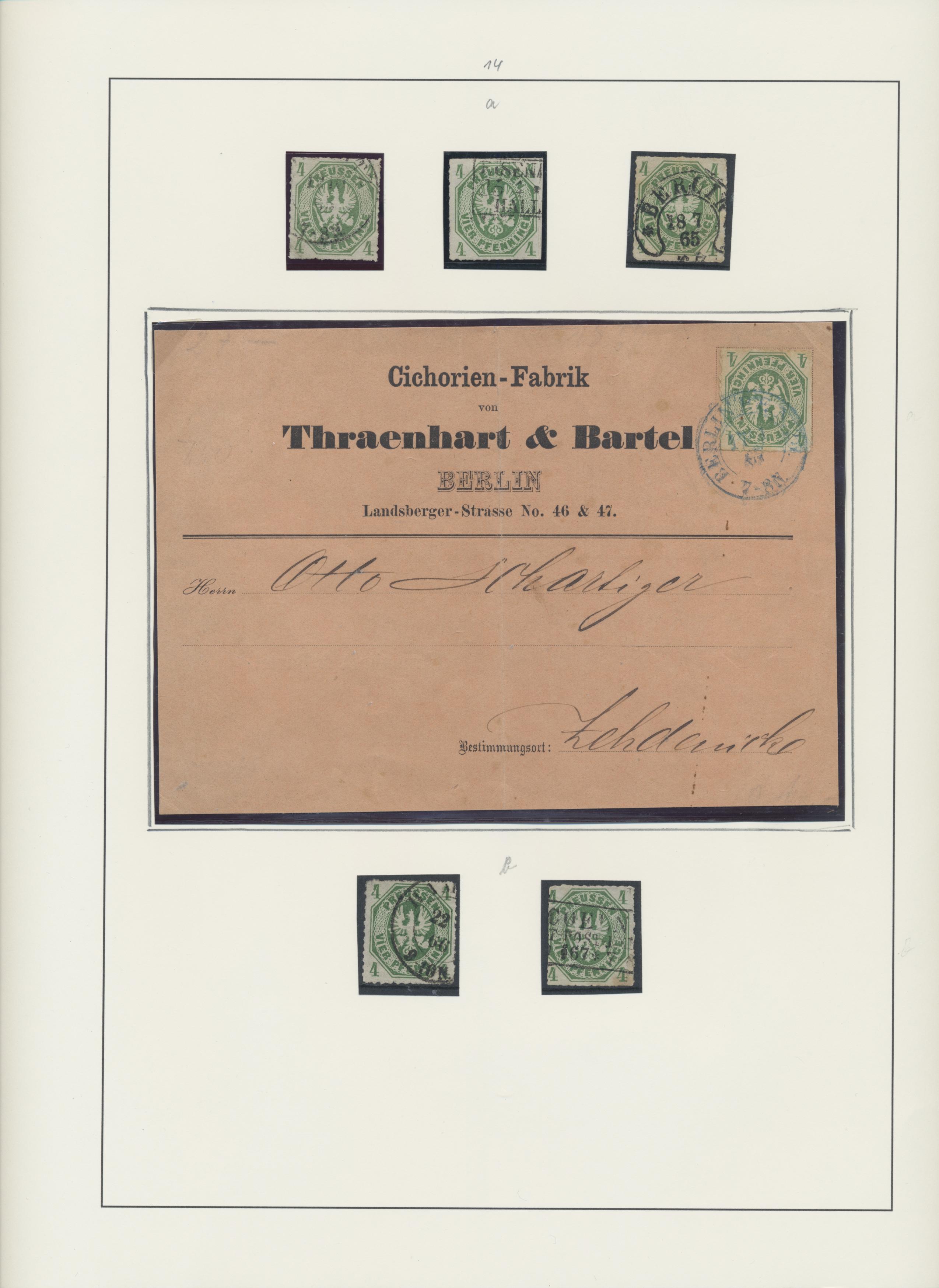 Lot 22885 - Preußen - Marken und Briefe  -  Auktionshaus Christoph Gärtner GmbH & Co. KG 50th Auction Anniversary Auction - Day 7