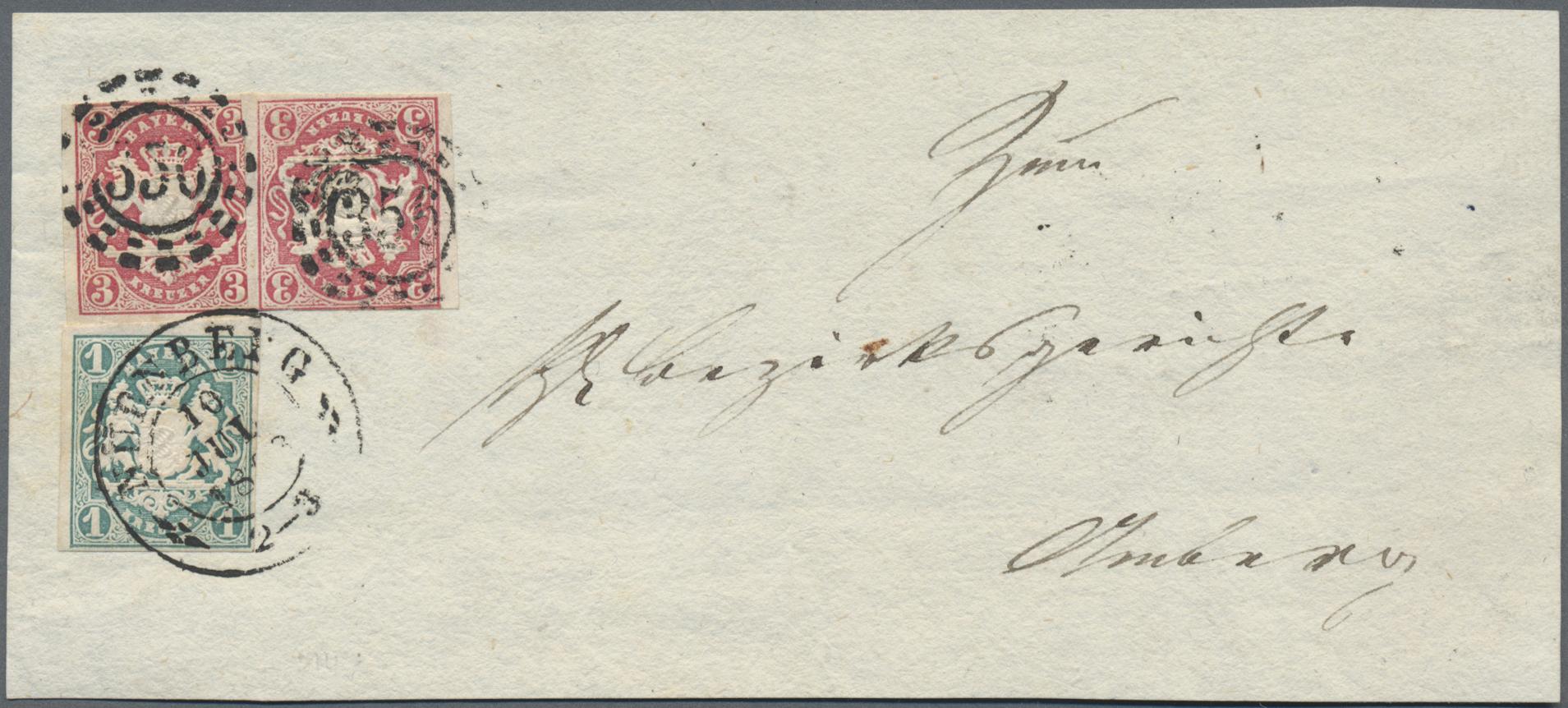 Lot 36174 - Bayern - Marken und Briefe  -  Auktionshaus Christoph Gärtner GmbH & Co. KG Sale #44 Collections Germany