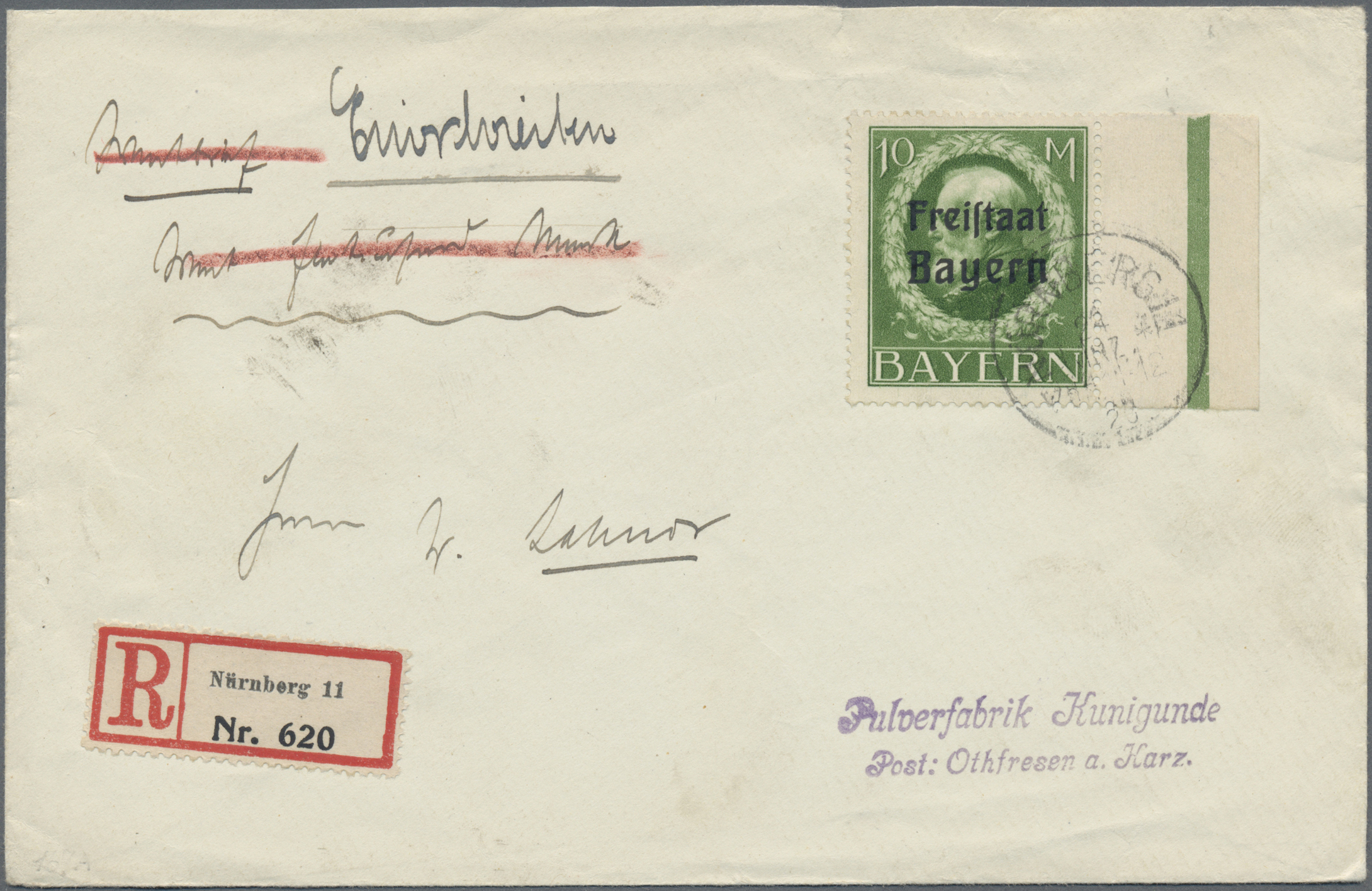 Lot 36182 - Bayern - Marken und Briefe  -  Auktionshaus Christoph Gärtner GmbH & Co. KG Sale #44 Collections Germany
