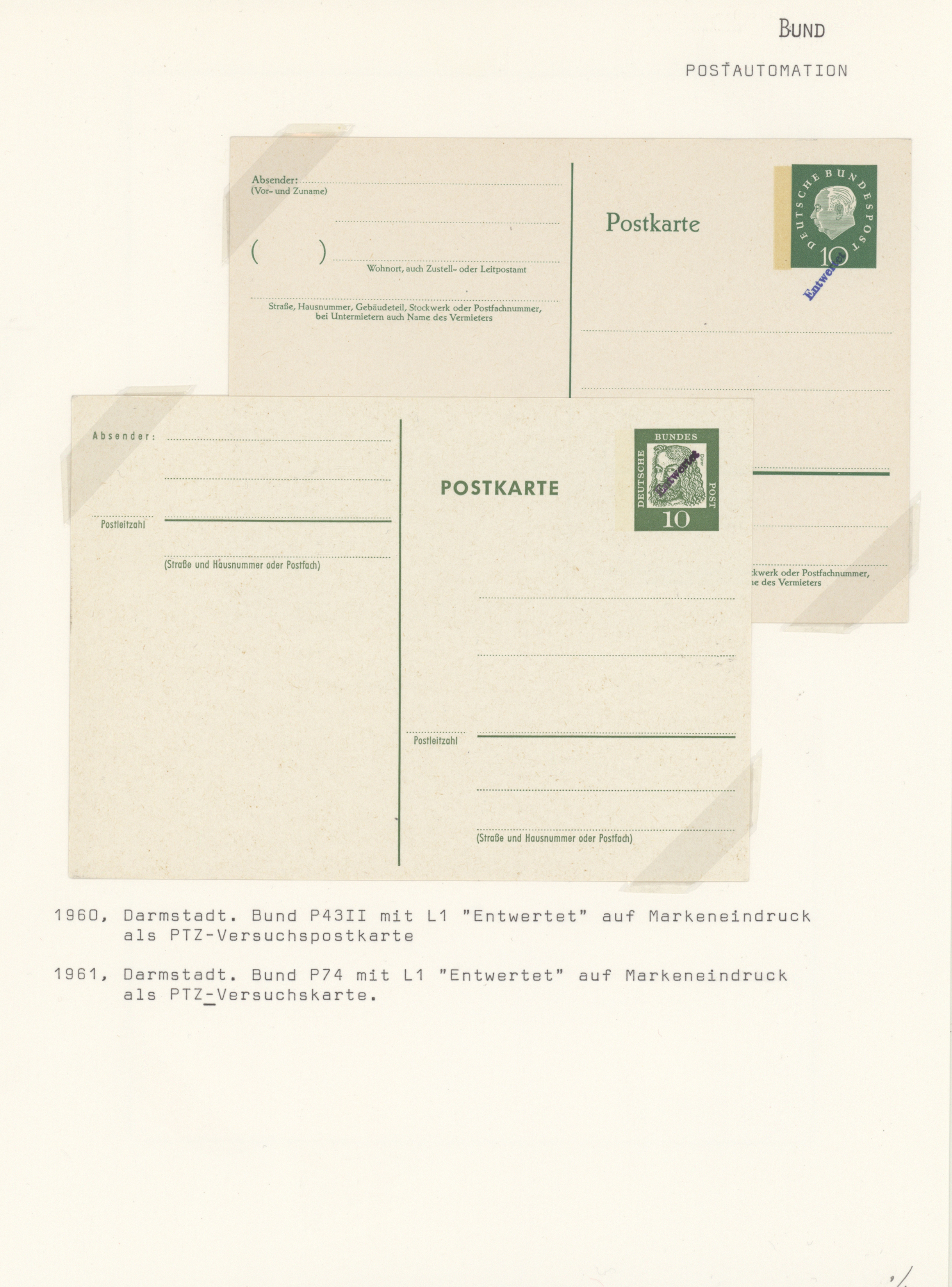Lot 37644 - bundesrepublik deutschland  -  Auktionshaus Christoph Gärtner GmbH & Co. KG Sale #44 Collections Germany