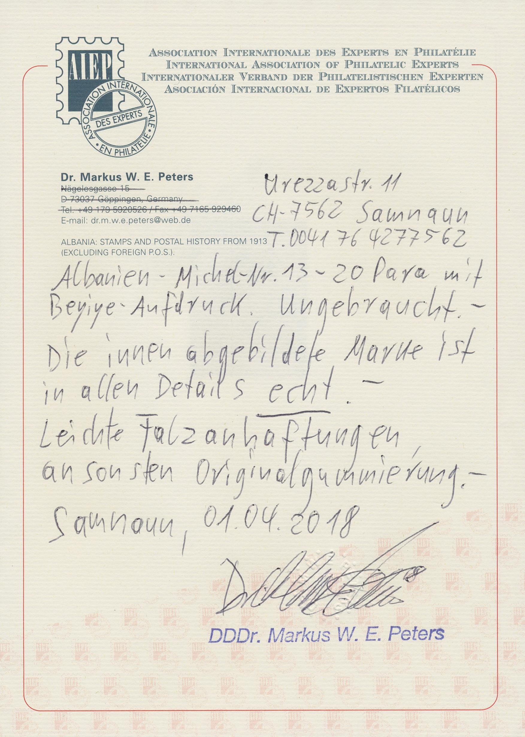 Lot 15023 - albanien  -  Auktionshaus Christoph Gärtner GmbH & Co. KG Sale #43 Germany / Europe | Day 5
