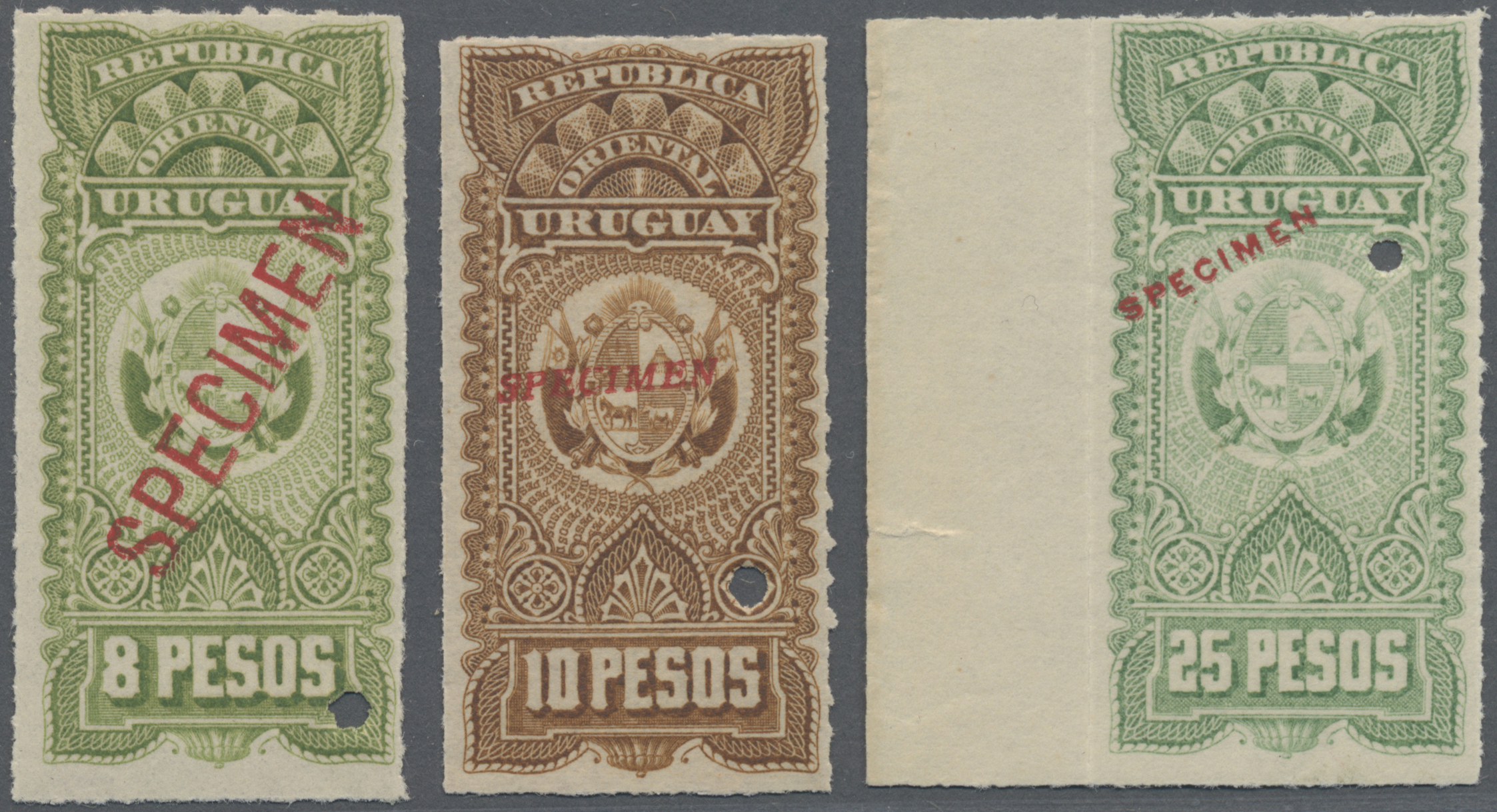Lot 07622 - Uruguay  -  Auktionshaus Christoph Gärtner GmbH & Co. KG Sale #48 The Single Lots Philatelie