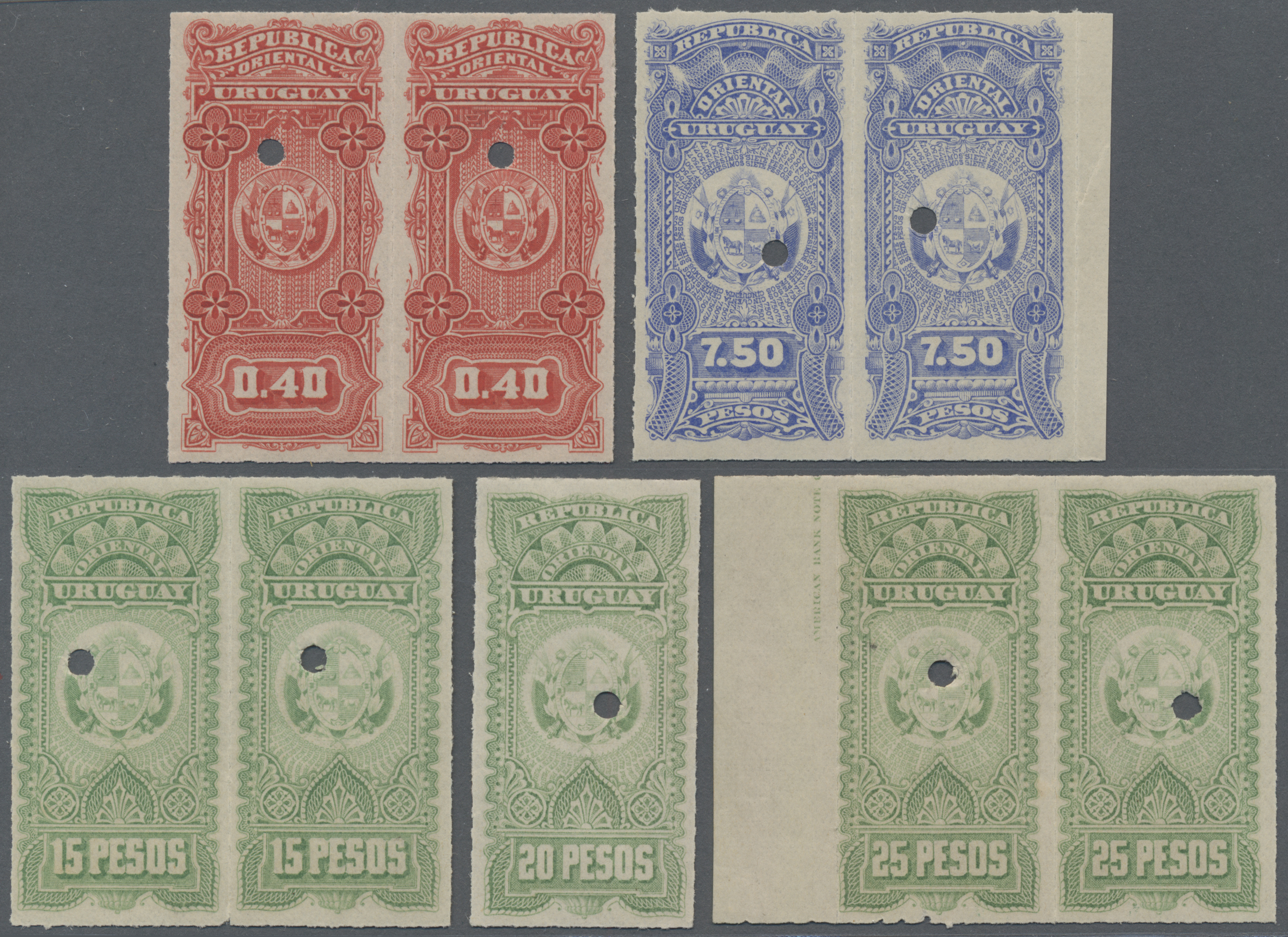 Lot 07623 - Uruguay  -  Auktionshaus Christoph Gärtner GmbH & Co. KG Sale #48 The Single Lots Philatelie