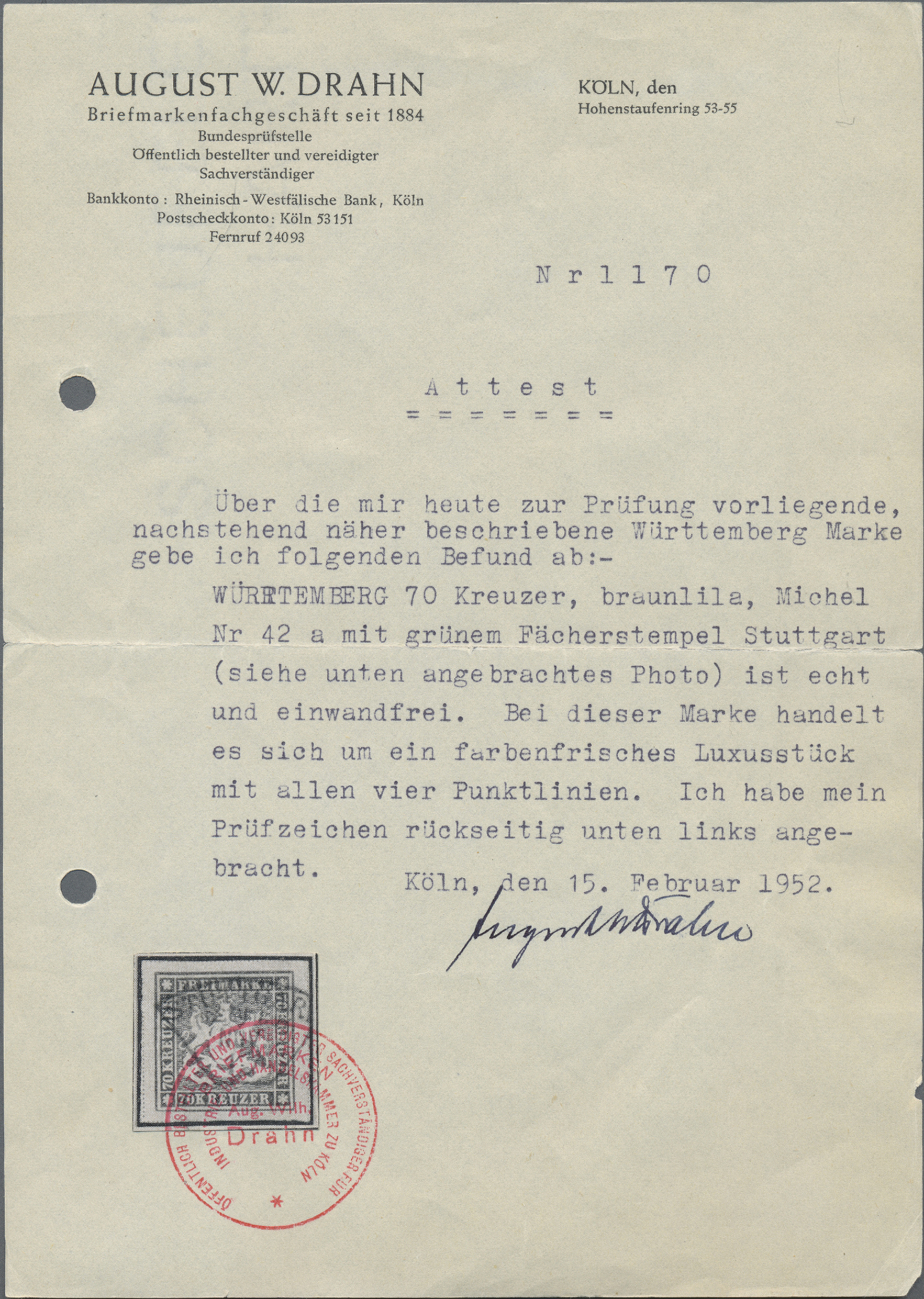 Lot 36337 - Württemberg - Marken und Briefe  -  Auktionshaus Christoph Gärtner GmbH & Co. KG Sale #44 Collections Germany