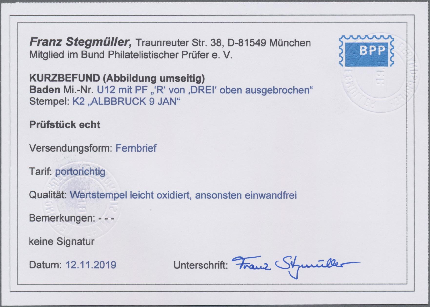 Lot 05016 - Baden - Ganzsachen  -  Auktionshaus Christoph Gärtner GmbH & Co. KG 51th Auction - Day 3