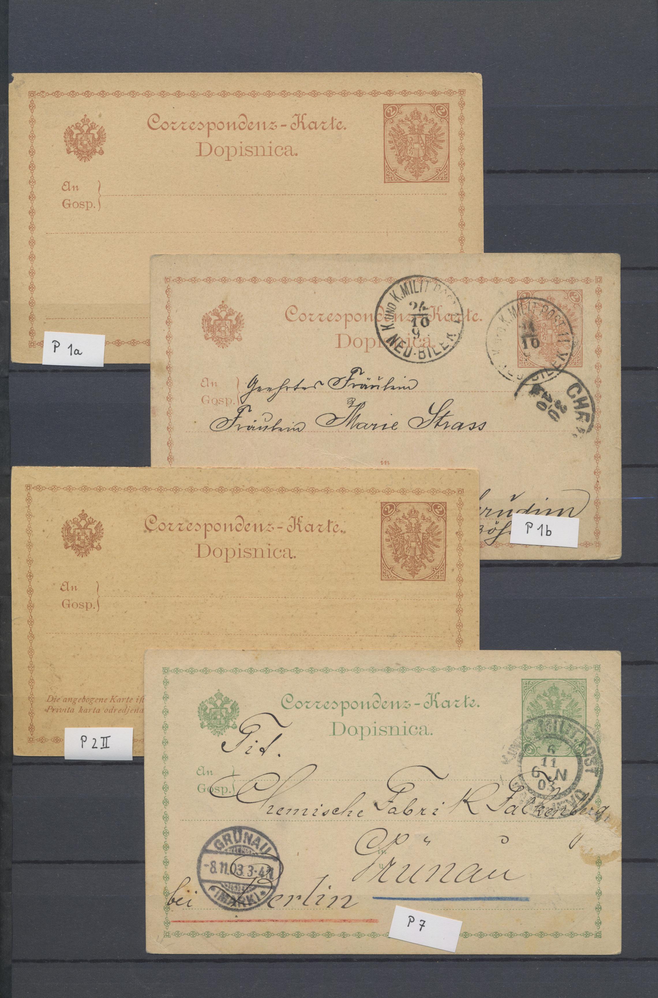 Lot 16708 - Bosnien und Herzegowina (Österreich 1879/1918)  -  Auktionshaus Christoph Gärtner GmbH & Co. KG Sale #48 collections Overseas  Airmail / Ship mail & Thematics