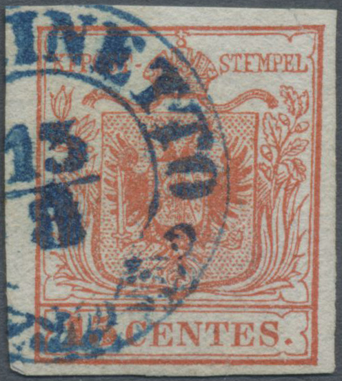 Lot 18173 - Österreich - Lombardei und Venetien - Stempel  -  Auktionshaus Christoph Gärtner GmbH & Co. KG Single lots Philately Overseas & Europe. Auction #39 Day 4