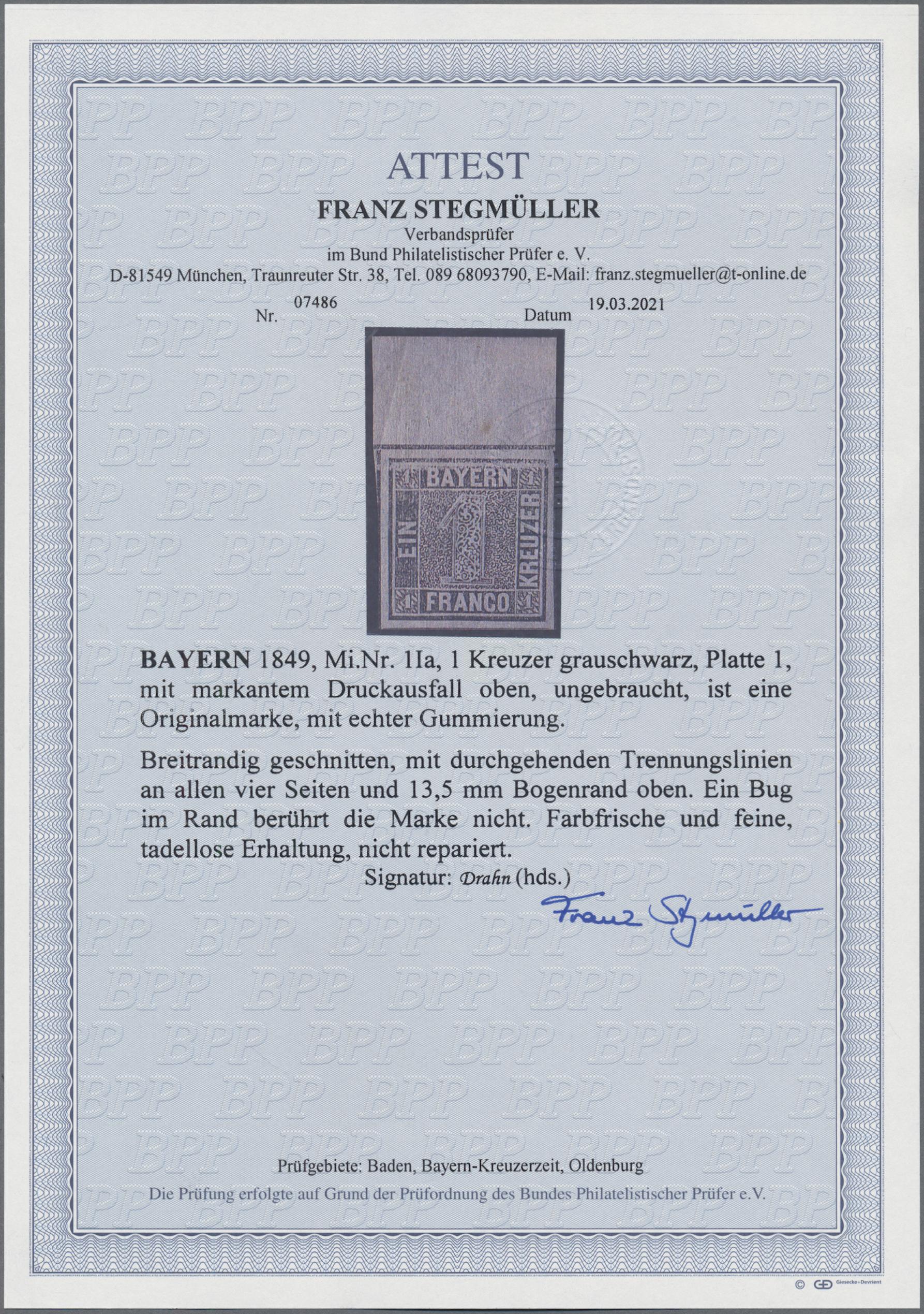 Lot 05021 - Bayern - Marken und Briefe  -  Auktionshaus Christoph Gärtner GmbH & Co. KG 51th Auction - Day 3