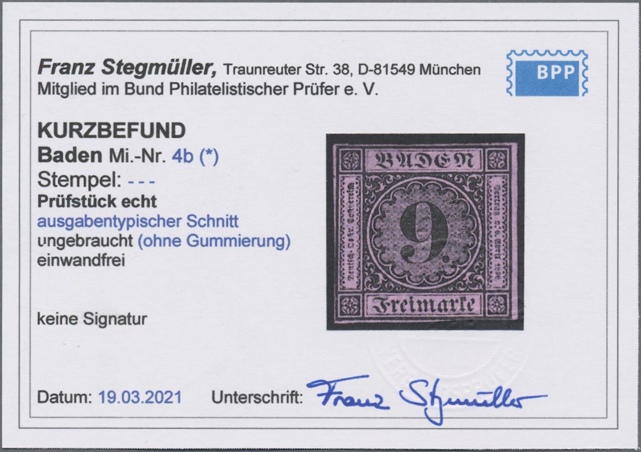 Lot 05004 - Baden - Marken und Briefe  -  Auktionshaus Christoph Gärtner GmbH & Co. KG 51th Auction - Day 3