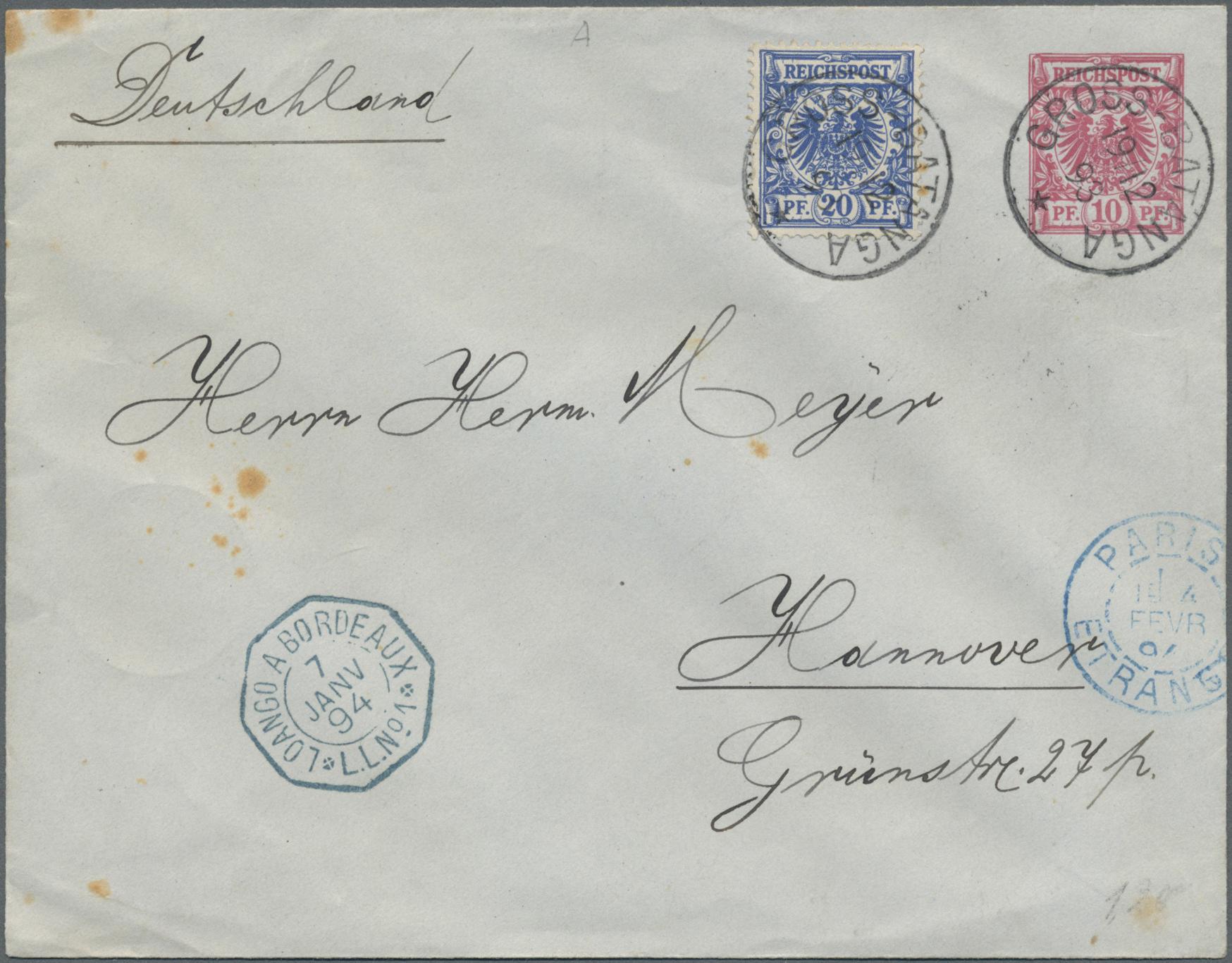 Lot 22433 - Deutsche Kolonien - Kamerun - Stempel  -  Auktionshaus Christoph Gärtner GmbH & Co. KG Single lots Germany + Picture Postcards. Auction #39 Day 5