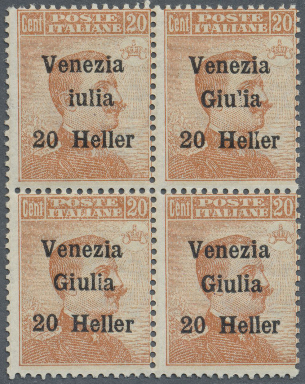 Lot 17130 - Italienische Besetzung 1918/23 - Julisch-Venetien  -  Auktionshaus Christoph Gärtner GmbH & Co. KG Single lots Philately Overseas & Europe. Auction #39 Day 4