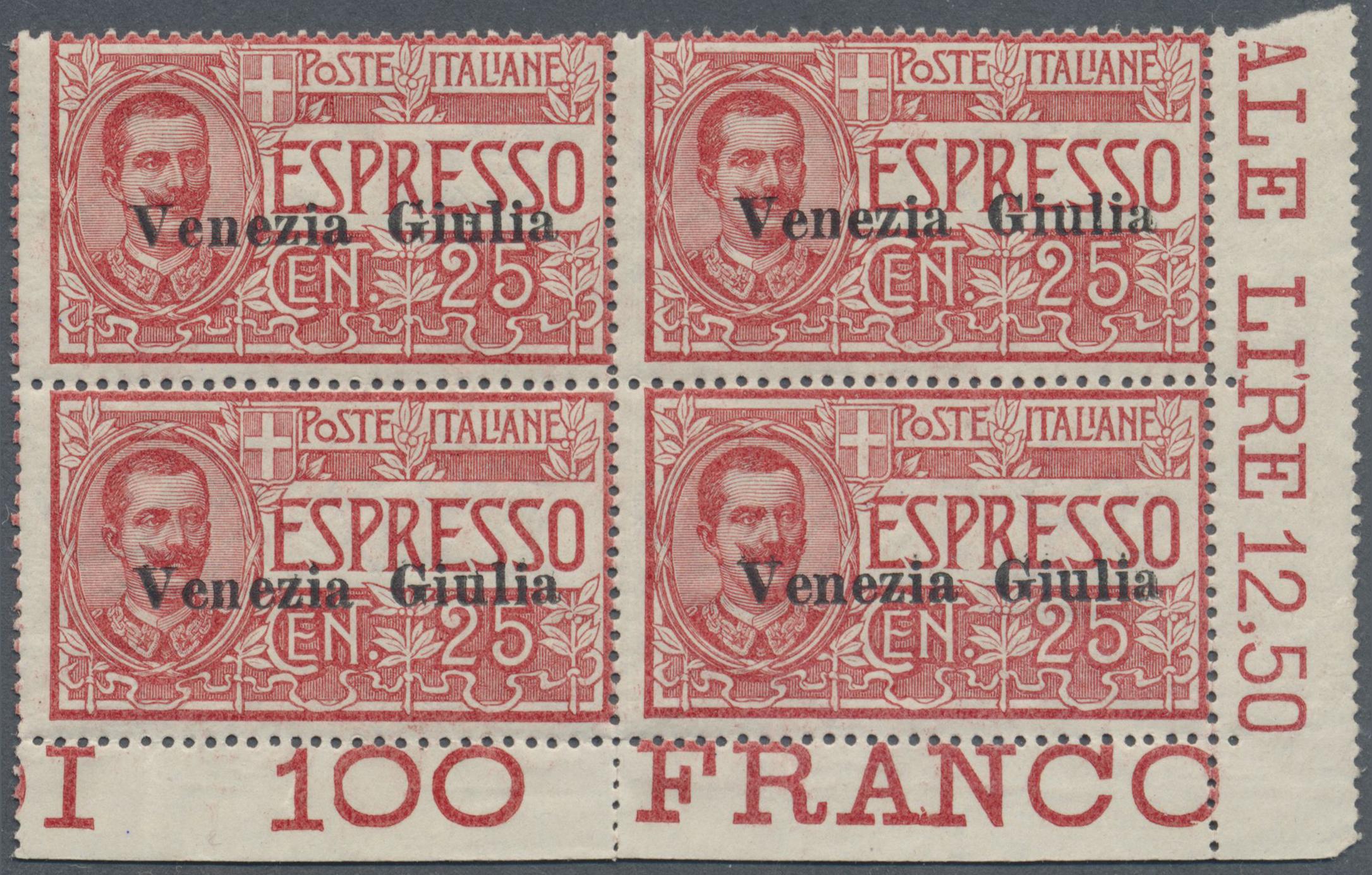 Lot 17131 - Italienische Besetzung 1918/23 - Julisch-Venetien  -  Auktionshaus Christoph Gärtner GmbH & Co. KG Single lots Philately Overseas & Europe. Auction #39 Day 4