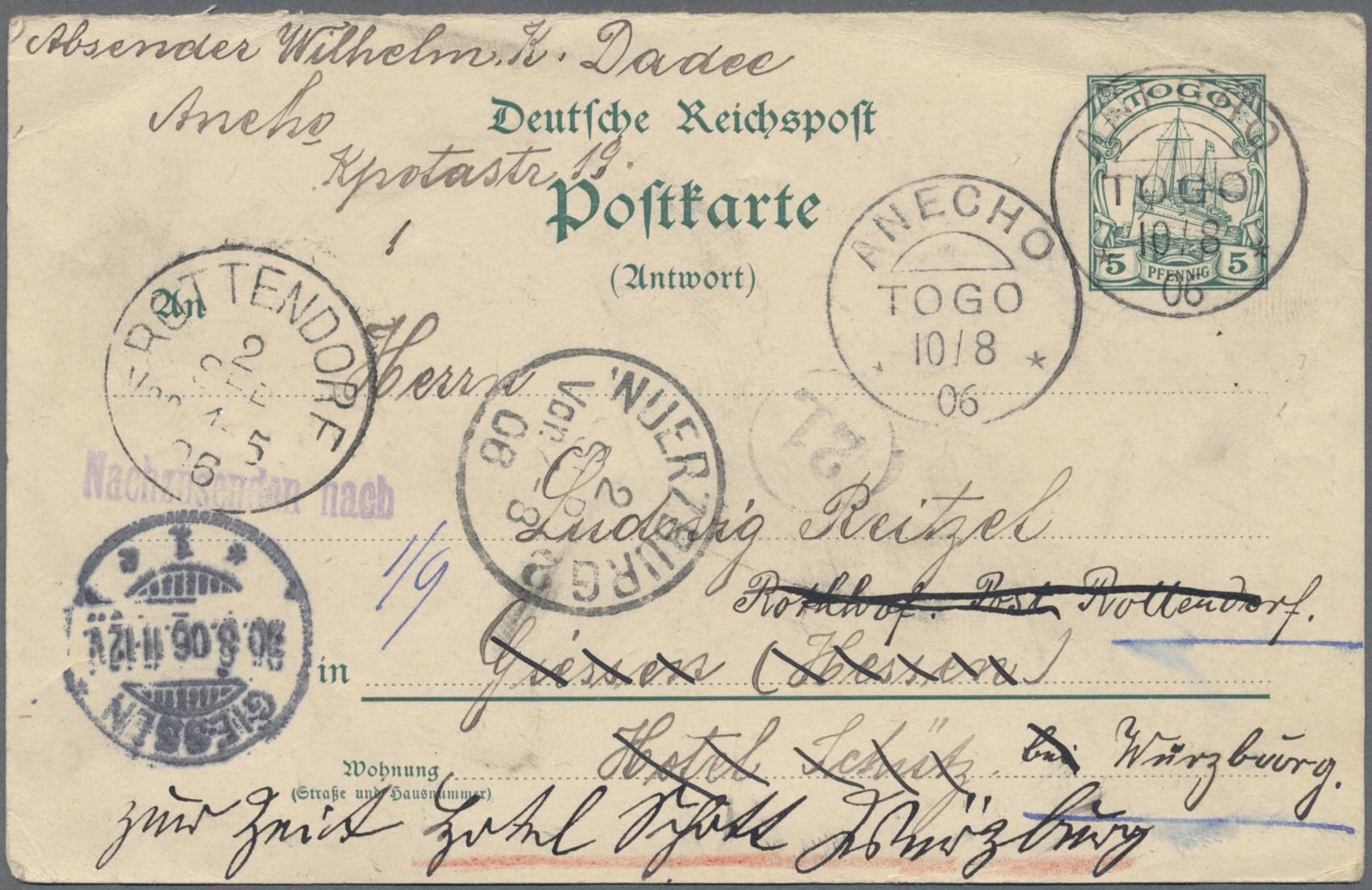 Lot 23509 - Deutsche Auslandspostämter + Kolonien  -  Auktionshaus Christoph Gärtner GmbH & Co. KG 50th Auction Anniversary Auction - Day 7