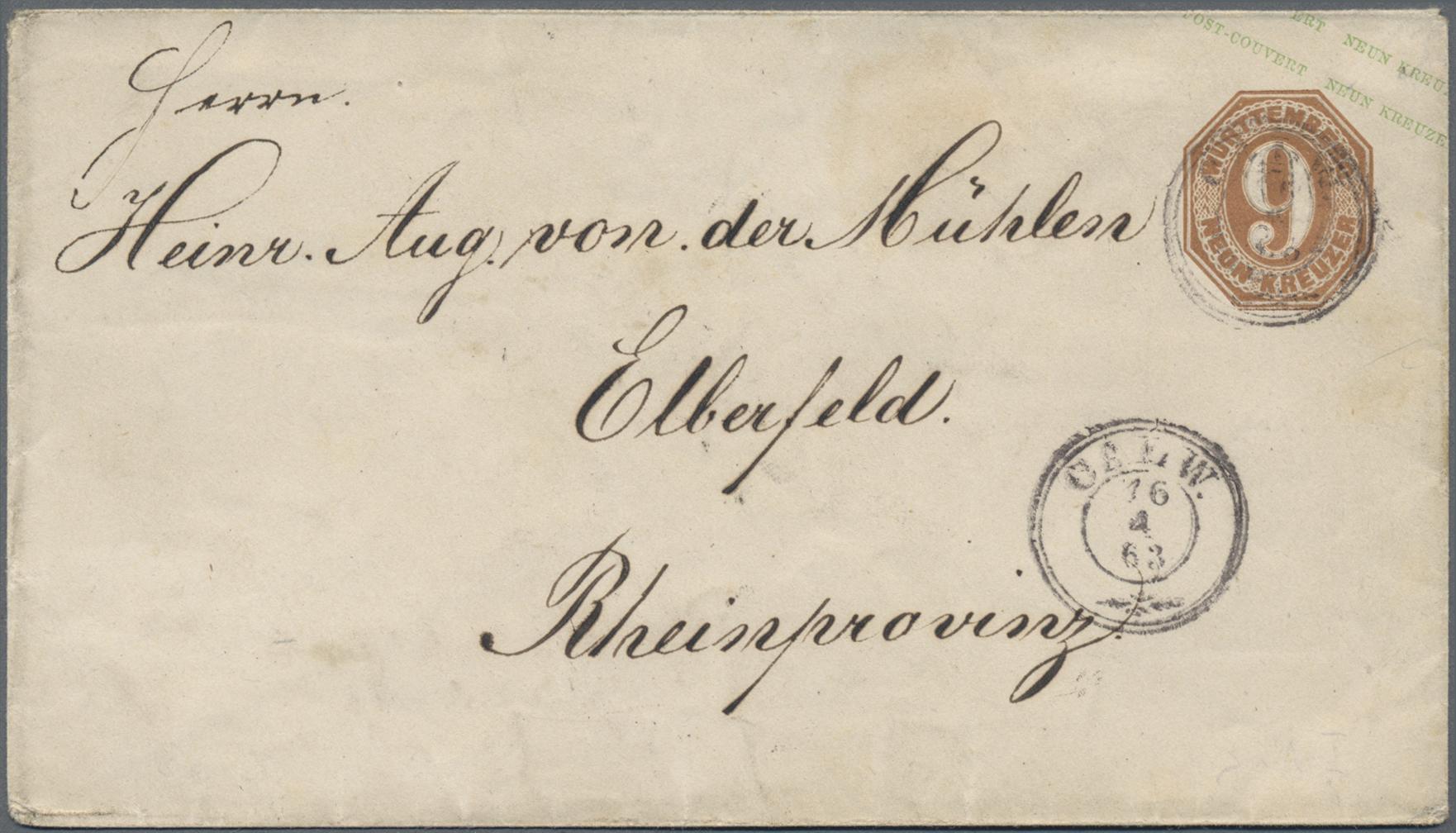 Lot 35197 - württemberg - ganzsachen  -  Auktionshaus Christoph Gärtner GmbH & Co. KG Sale #44 Collections Germany