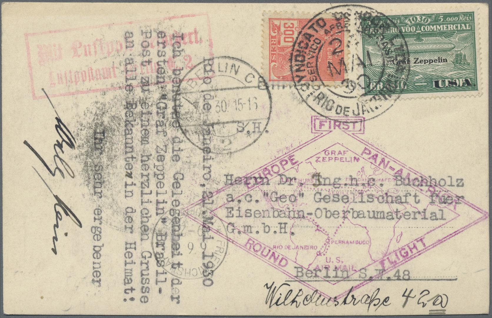 Lot 34539 - Brasilien - Zeppelinpost  -  Auktionshaus Christoph Gärtner GmbH & Co. KG Sale #44 Collections Germany
