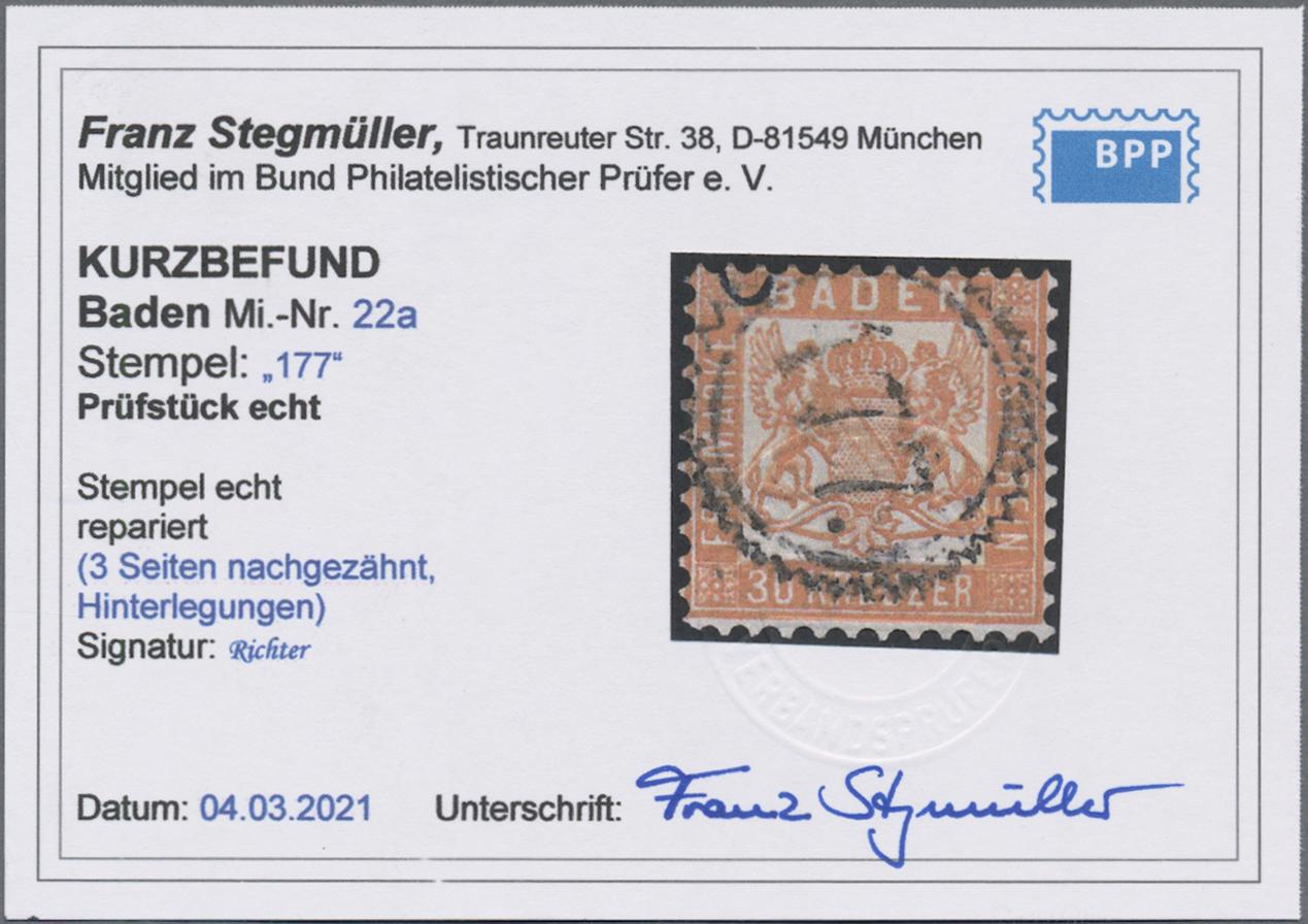 Lot 05012 - Baden - Marken und Briefe  -  Auktionshaus Christoph Gärtner GmbH & Co. KG 51th Auction - Day 3