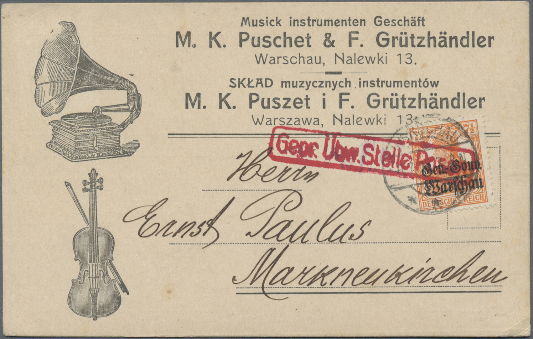 Lot 35231 - deutsche besetzung i. wk  -  Auktionshaus Christoph Gärtner GmbH & Co. KG Sale #44 Collections Germany