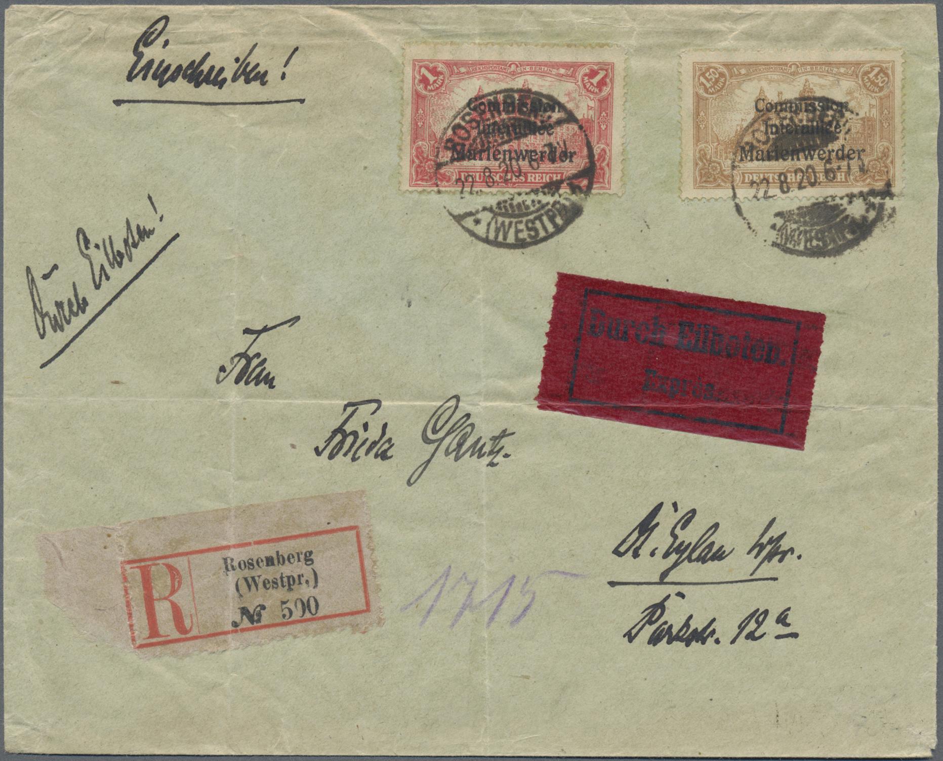 Lot 35233 - deutsche abstimmungsgebiete  -  Auktionshaus Christoph Gärtner GmbH & Co. KG Sale #44 Collections Germany