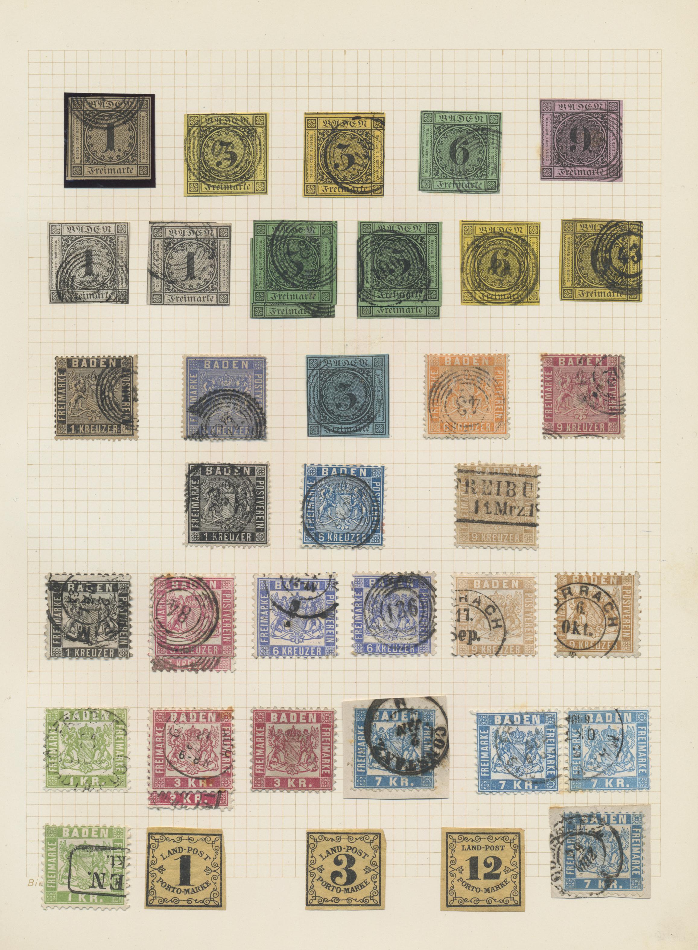 Lot 36146 - Baden - Marken und Briefe  -  Auktionshaus Christoph Gärtner GmbH & Co. KG Sale #44 Collections Germany