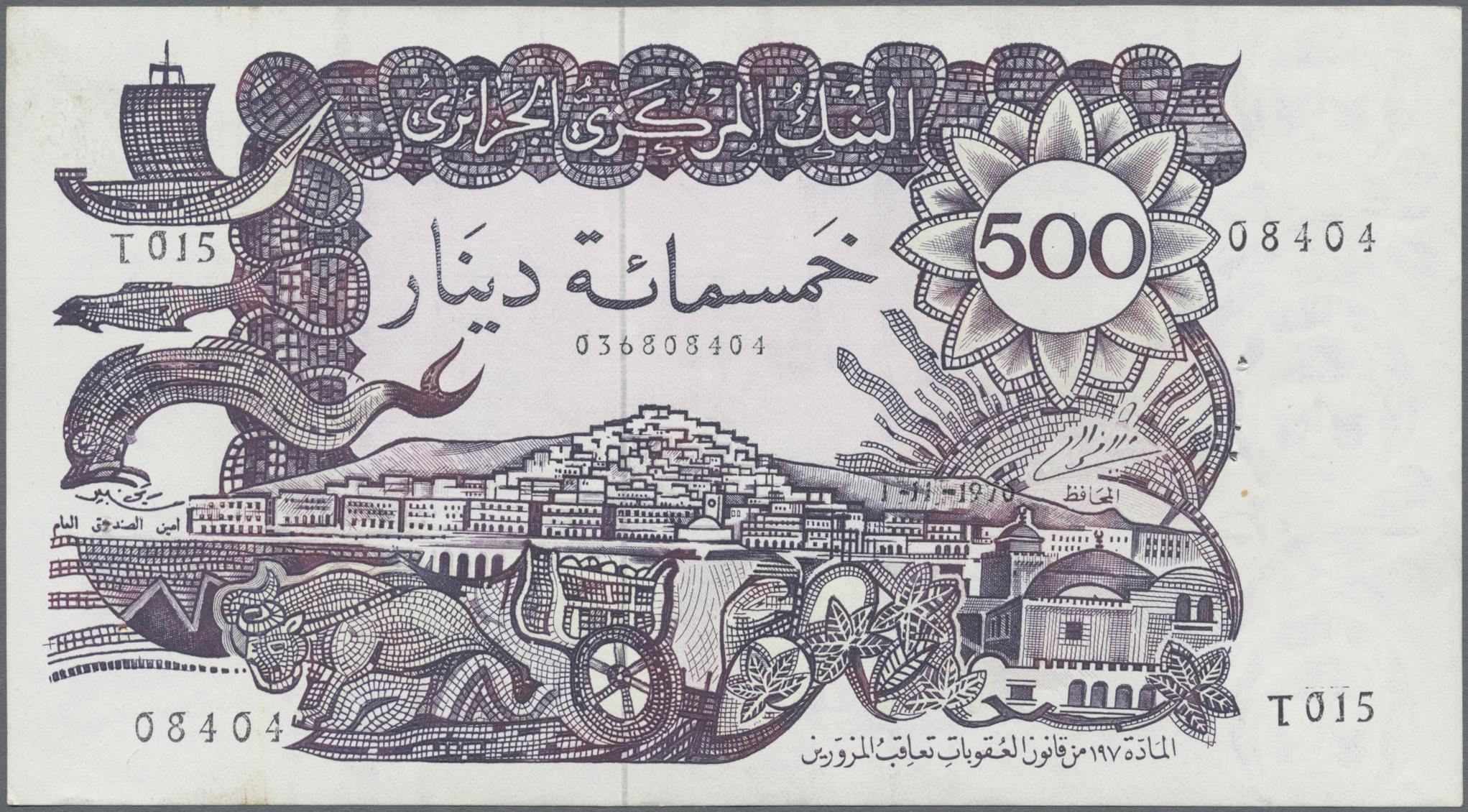 Lot 00010 - Algeria / Algerien | Banknoten  -  Auktionshaus Christoph Gärtner GmbH & Co. KG Sale #48 The Banknotes