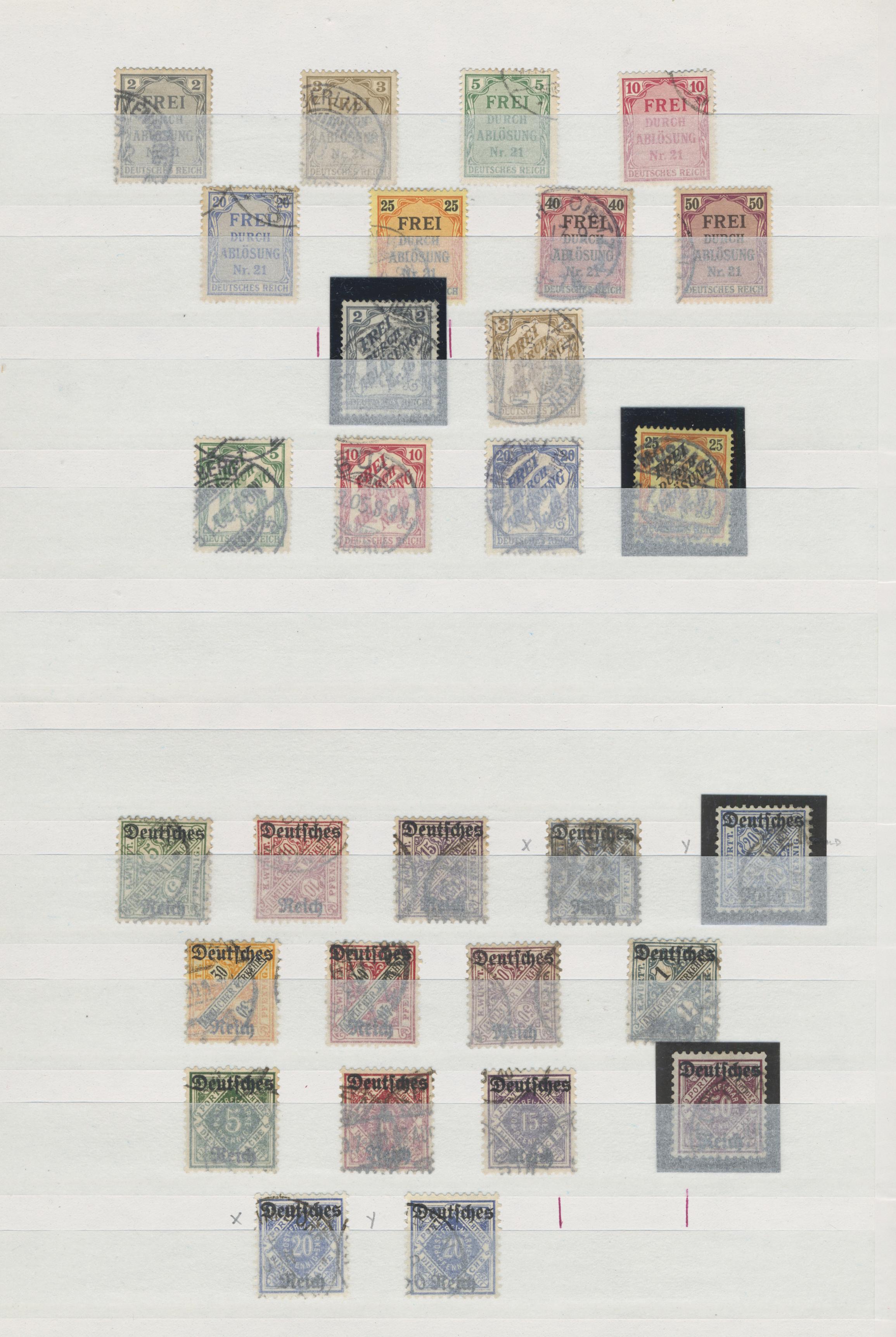 Lot 36788 - Deutsches Reich - Dienstmarken  -  Auktionshaus Christoph Gärtner GmbH & Co. KG Sale #44 Collections Germany