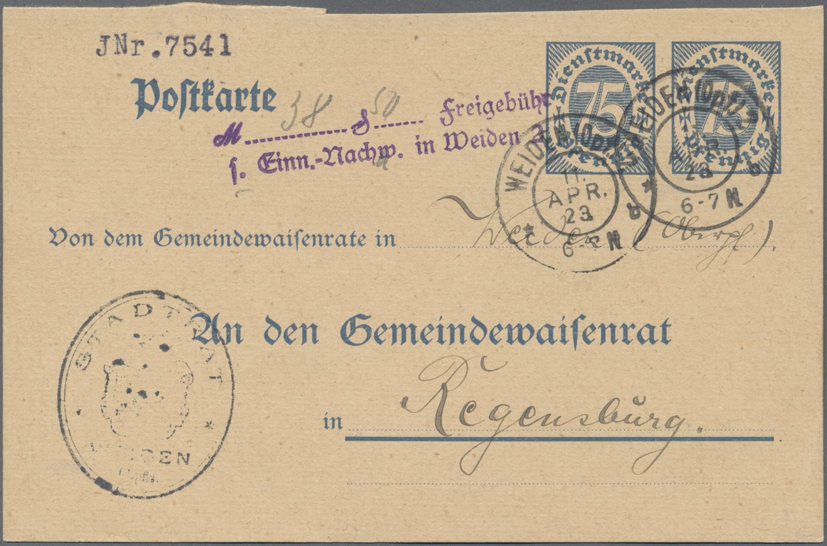 Lot 15124 - Deutsches Reich - Ganzsachen  -  Auktionshaus Christoph Gärtner GmbH & Co. KG Sale #46 Single lots Germany - and picture post cards
