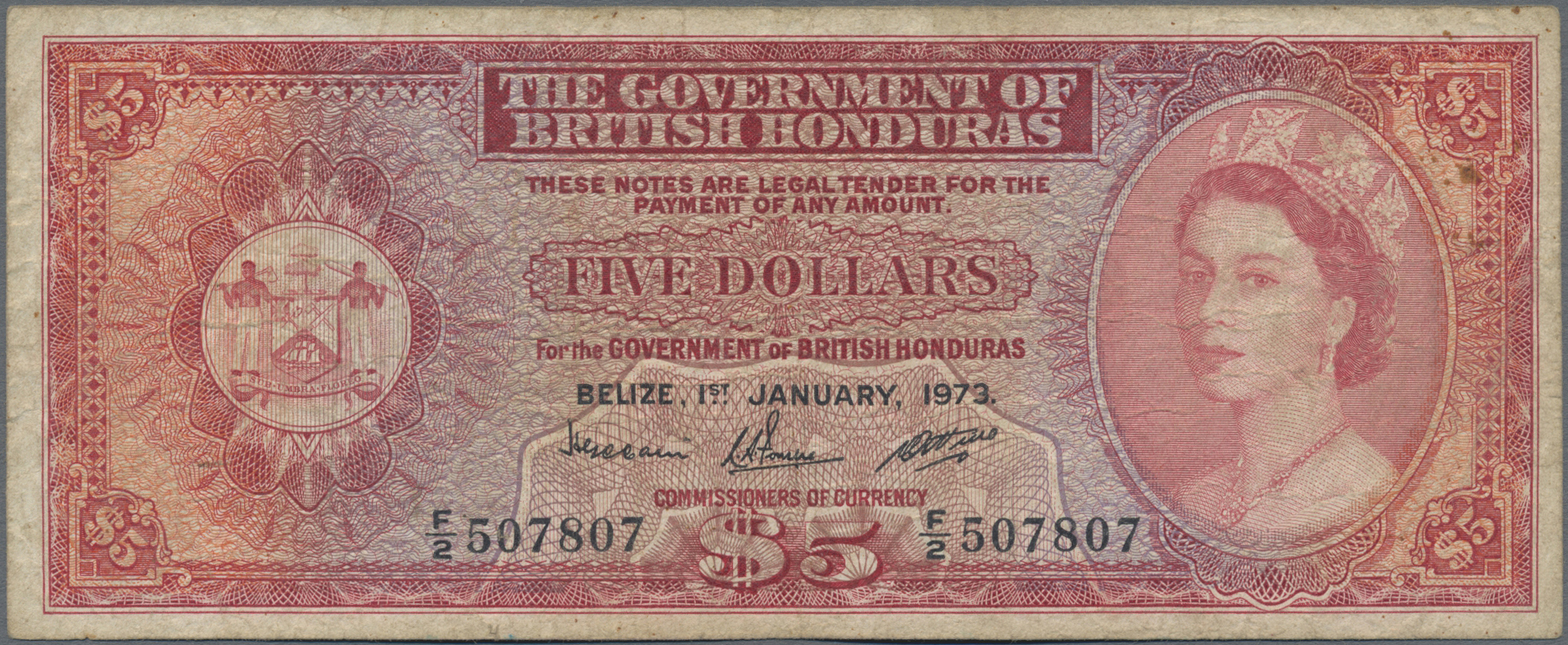 Lot 00080 - British Honduras | Banknoten  -  Auktionshaus Christoph Gärtner GmbH & Co. KG Sale #48 The Banknotes