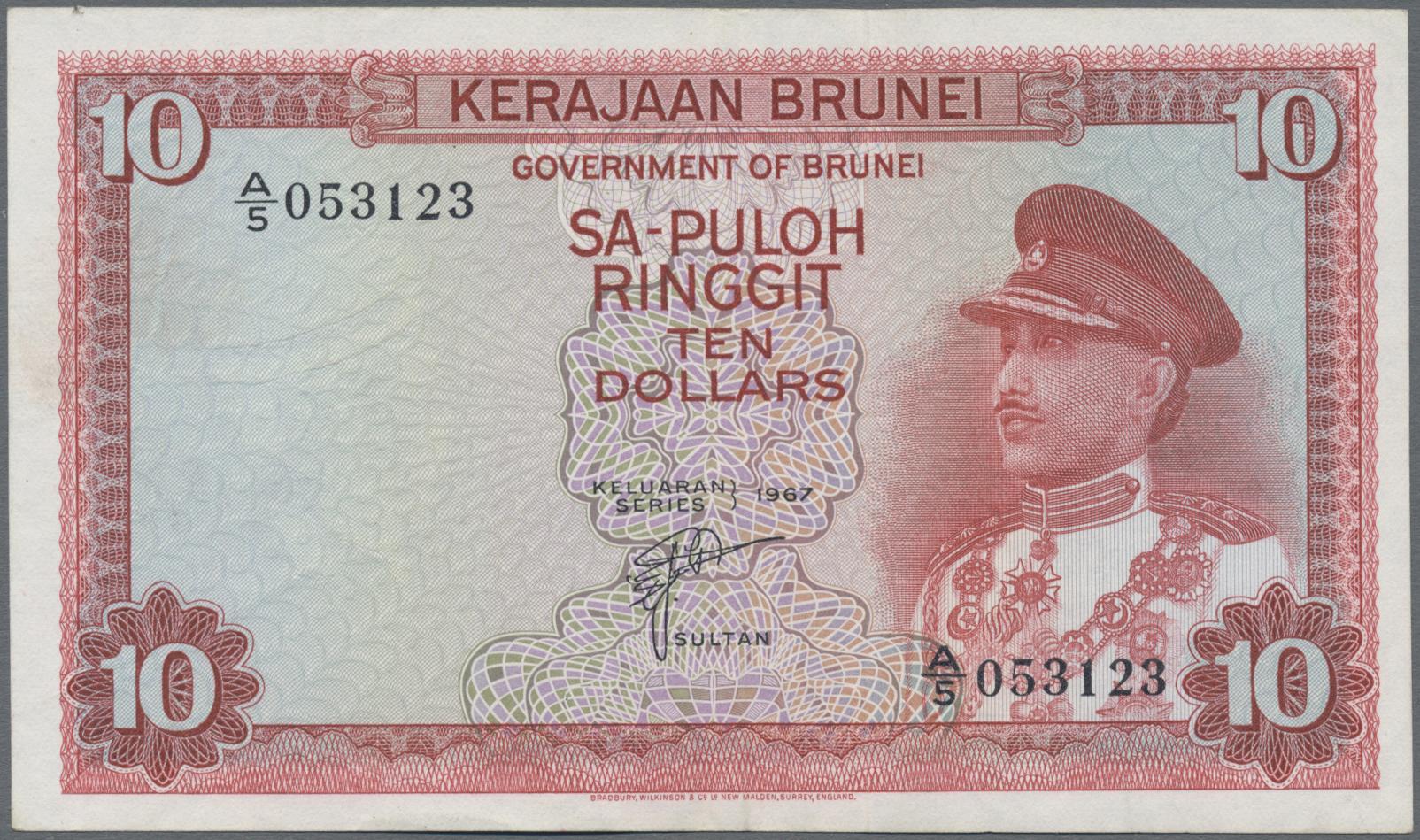 Lot 00084 - Brunei | Banknoten  -  Auktionshaus Christoph Gärtner GmbH & Co. KG Sale #48 The Banknotes