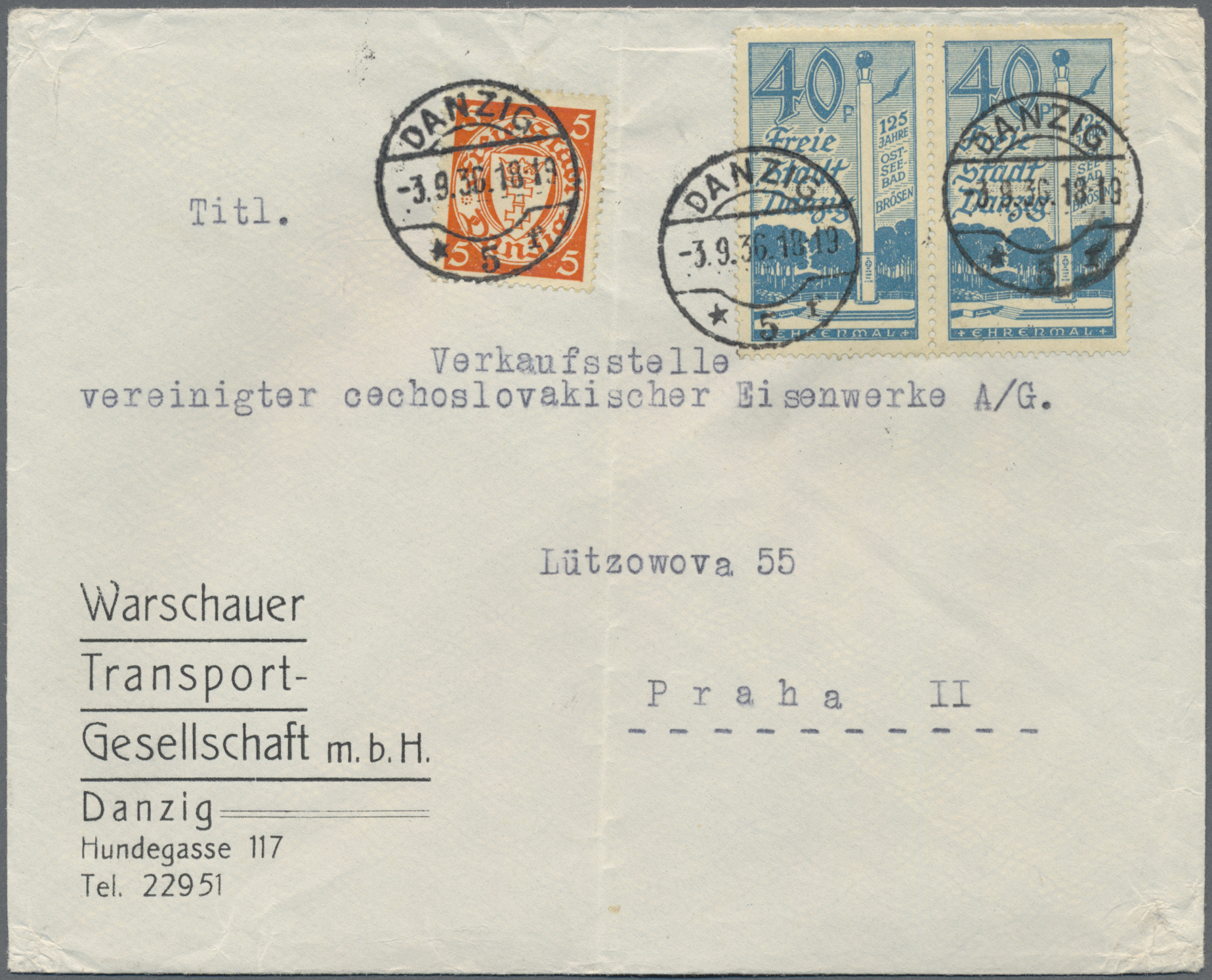 Lot 37064 - danzig  -  Auktionshaus Christoph Gärtner GmbH & Co. KG Sale #44 Collections Germany