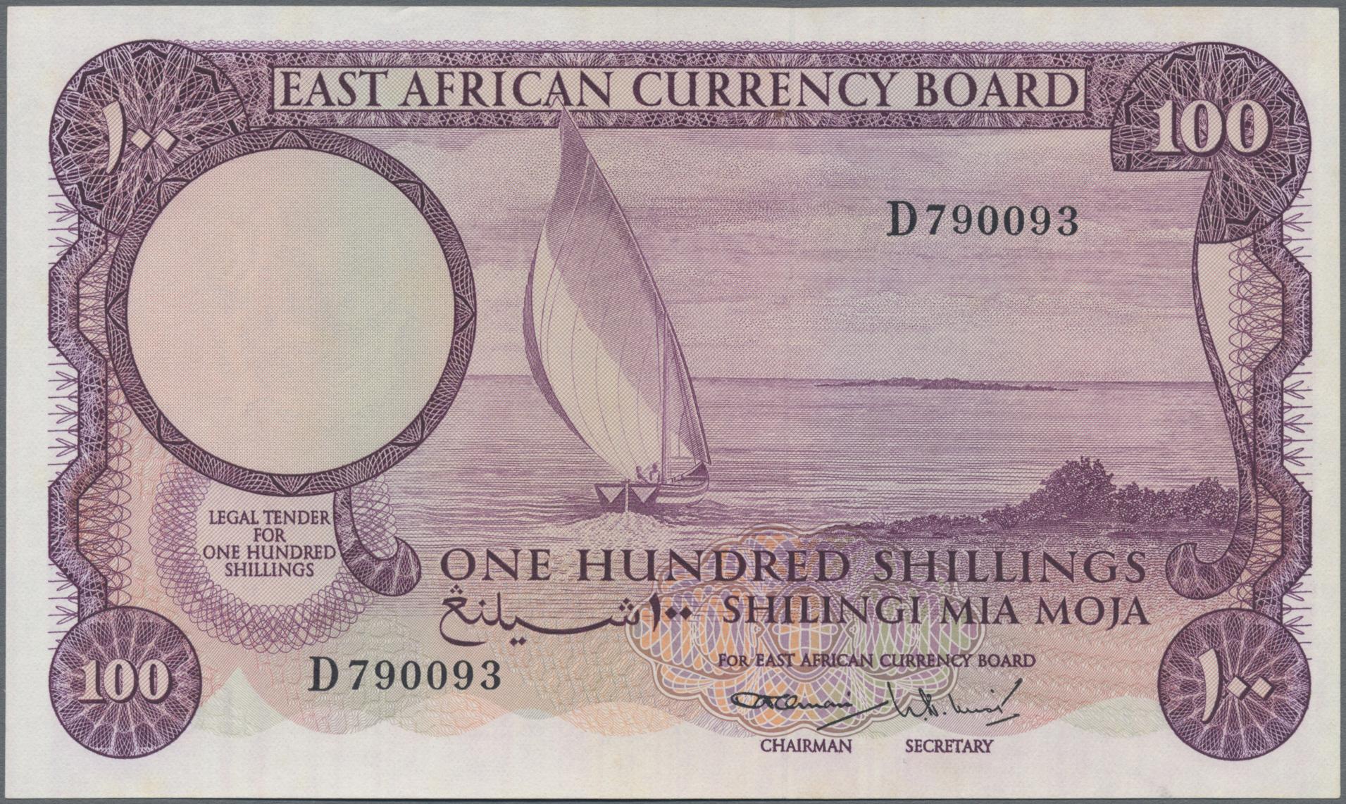 Lot 00189 - East Africa / Ost-Afrika| Banknoten  -  Auktionshaus Christoph Gärtner GmbH & Co. KG Sale #48 The Banknotes