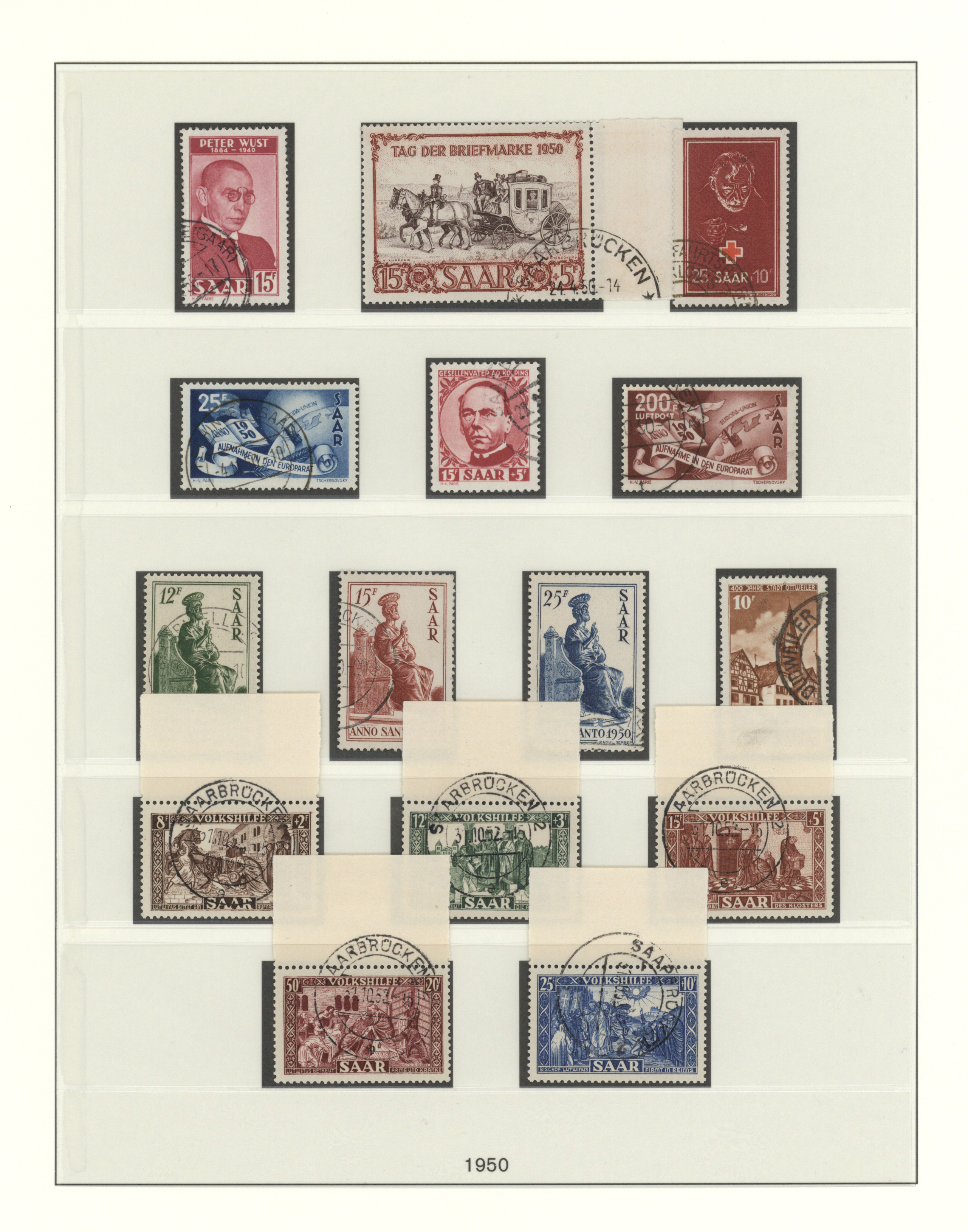 Lot 38290 - Saarland (1947/56)  -  Auktionshaus Christoph Gärtner GmbH & Co. KG Collections Germany,  Collections Supplement, Surprise boxes #39 Day 7