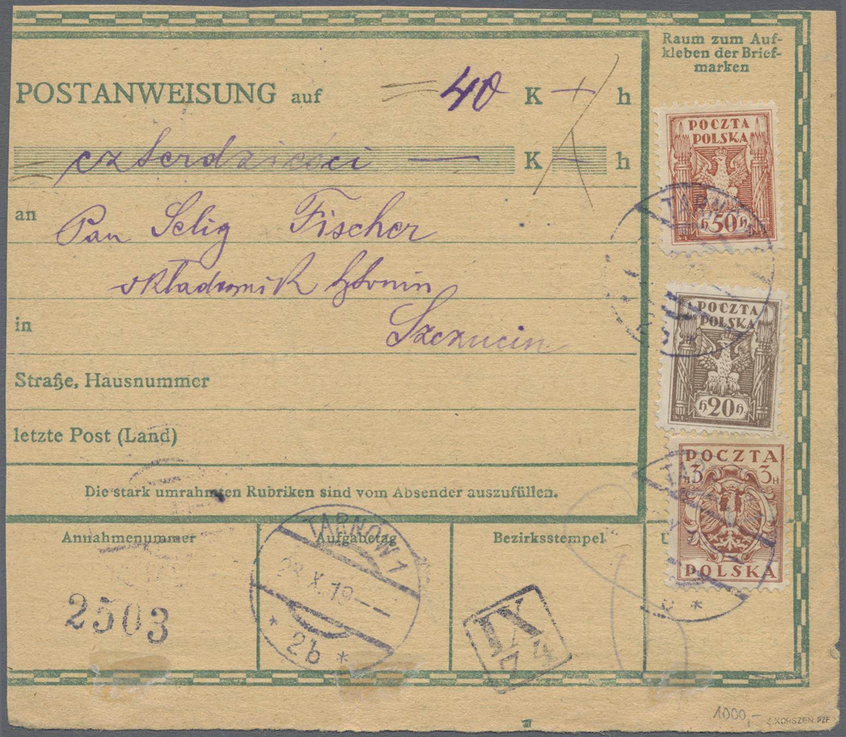 Lot 1572 - Polen - Lokalausgaben 1915/19  -  Auktionshaus Christoph Gärtner GmbH & Co. KG Auction #41 Special auction part two