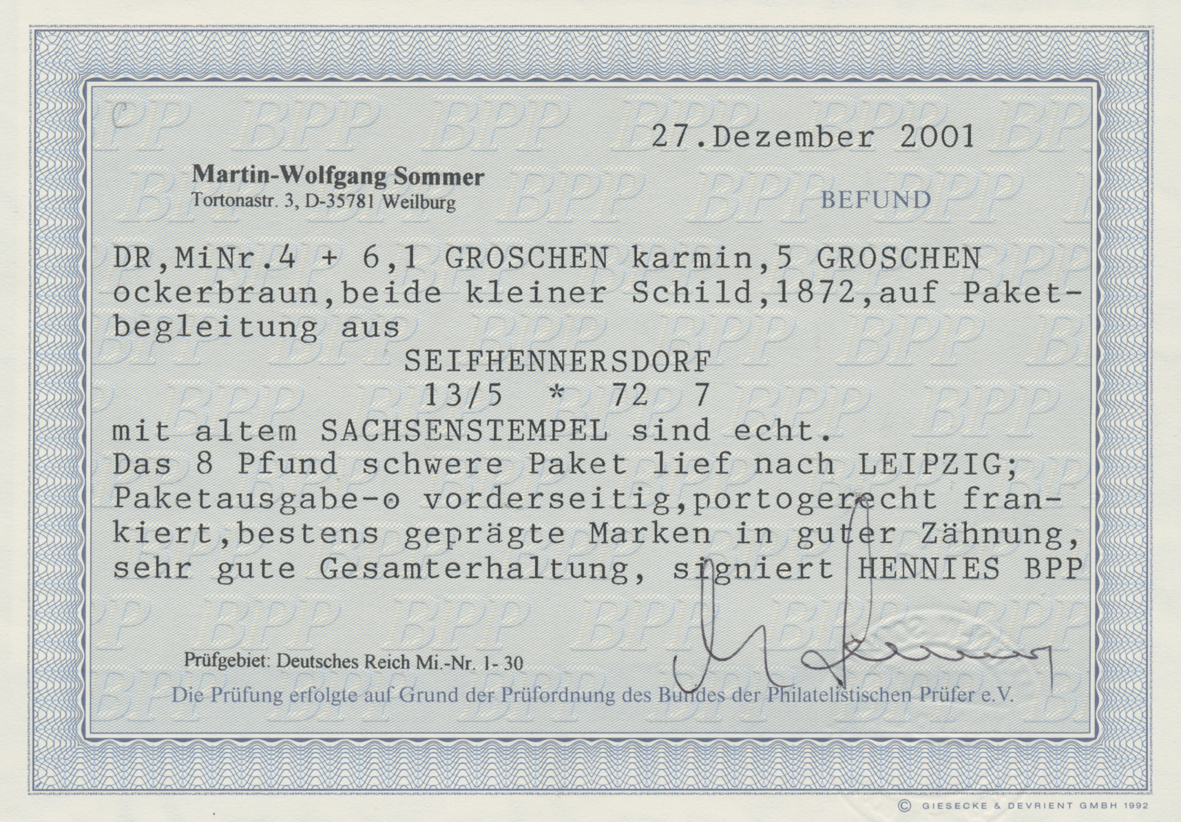 Lot 35214 - Deutsches Reich - Brustschild  -  Auktionshaus Christoph Gärtner GmbH & Co. KG Sale #44 Collections Germany
