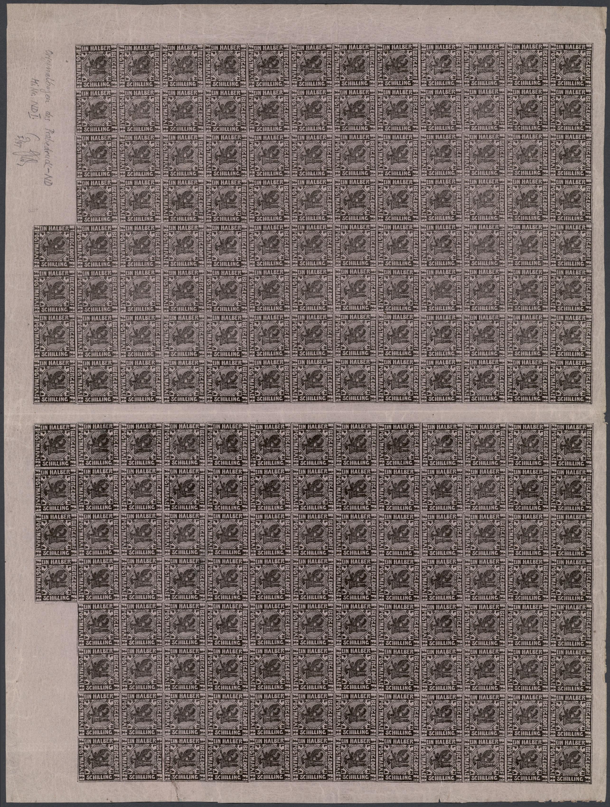 Lot 20257 - Bergedorf - Marken und Briefe  -  Auktionshaus Christoph Gärtner GmbH & Co. KG Sale #44 Germany, Picture Post cards