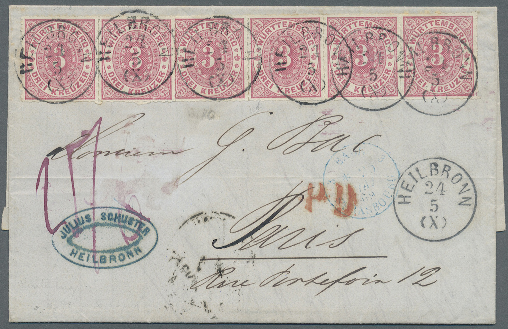 Lot 00141 - Württemberg - Marken und Briefe  -  Auktionshaus Christoph Gärtner GmbH & Co. KG Intenational Rarities and contains lots from the collection of Peter Zgonc